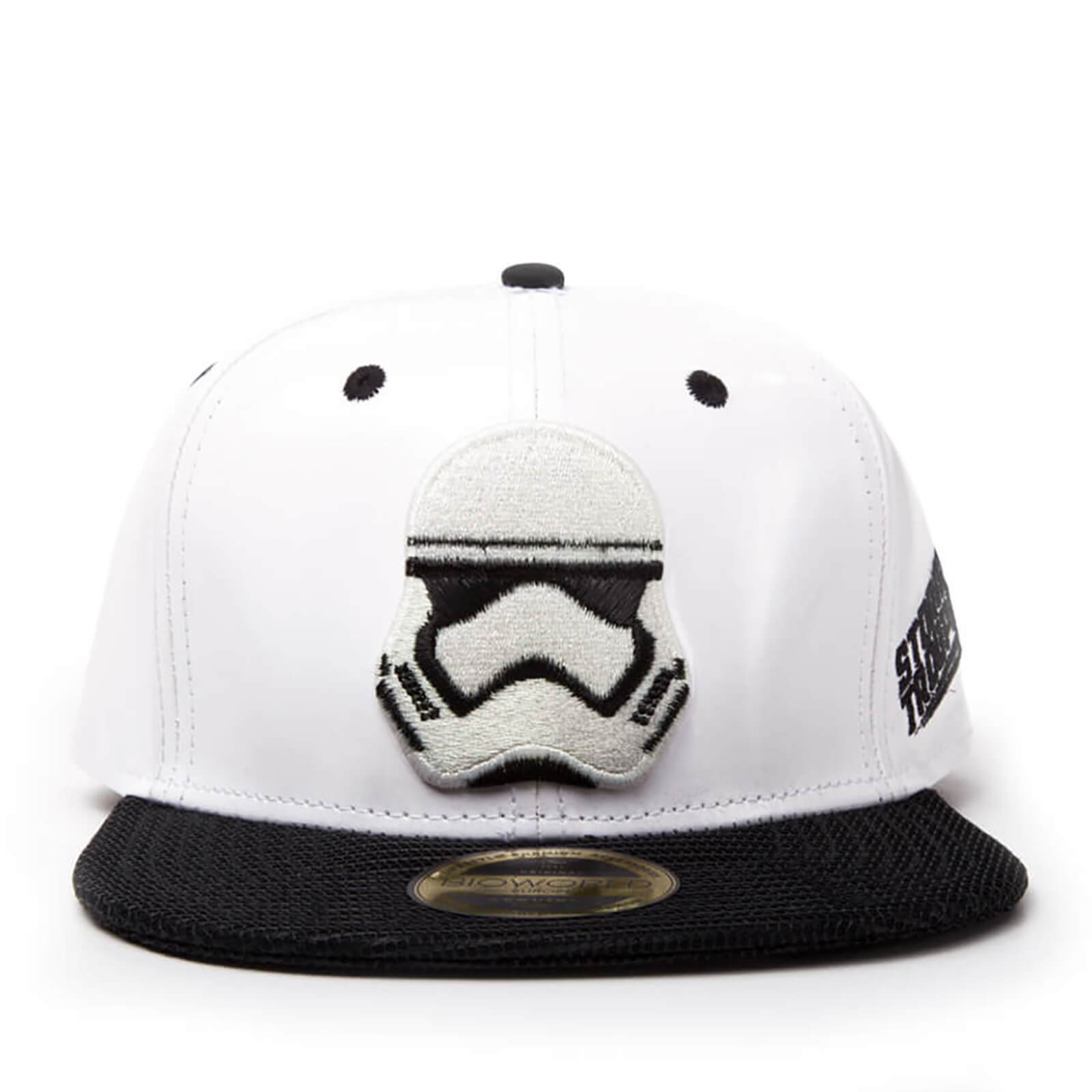 Star Wars Snapback Cap with Stormtrooper Embroidery and Black Bill - White