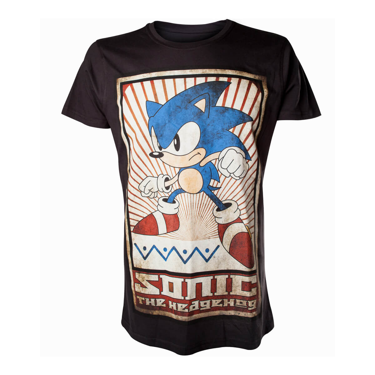 Sega Men S Sonic The Hedgehog Vintage T Shirt Black Merchandise