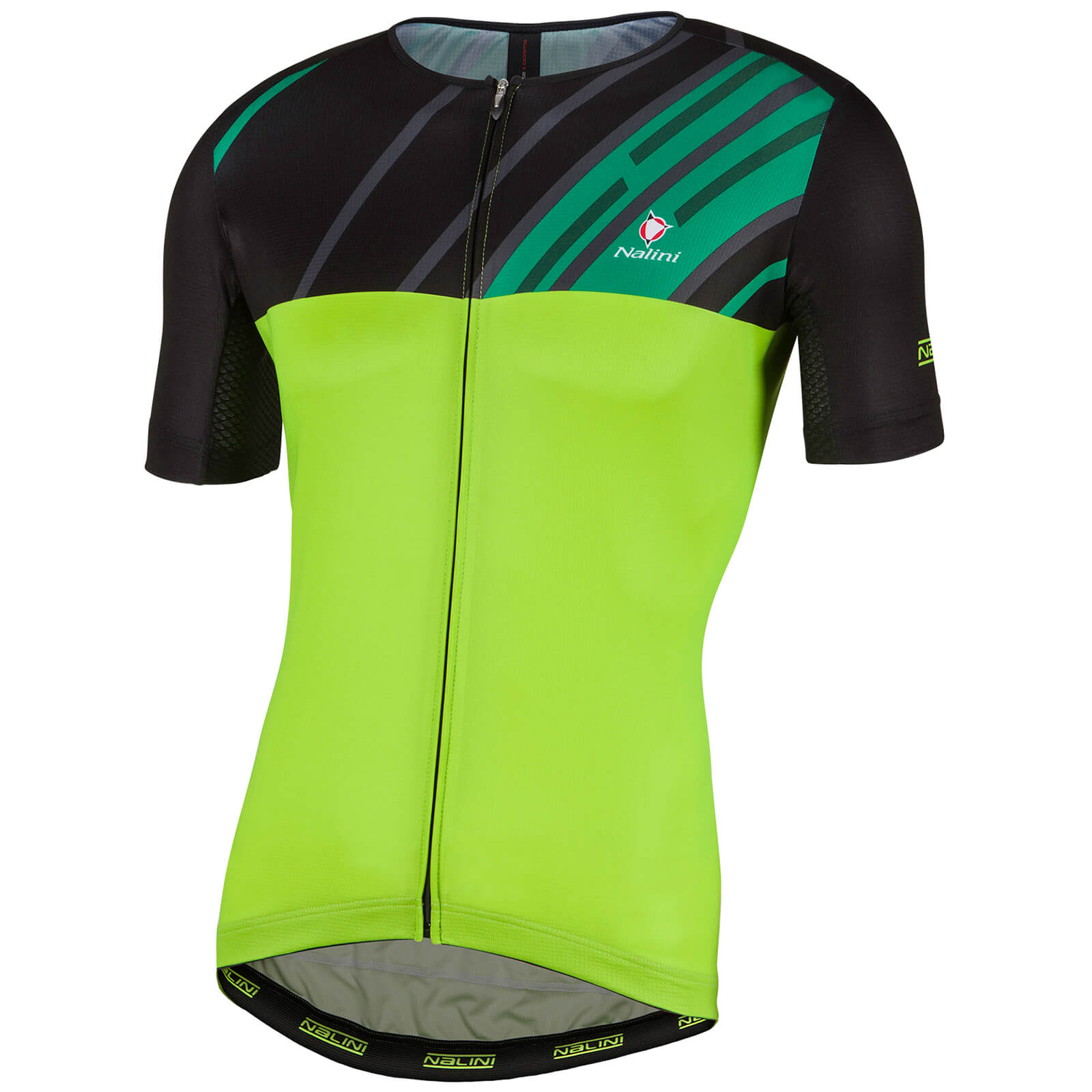 Nalini Roma Race Short Sleeve Jersey - Green/Black