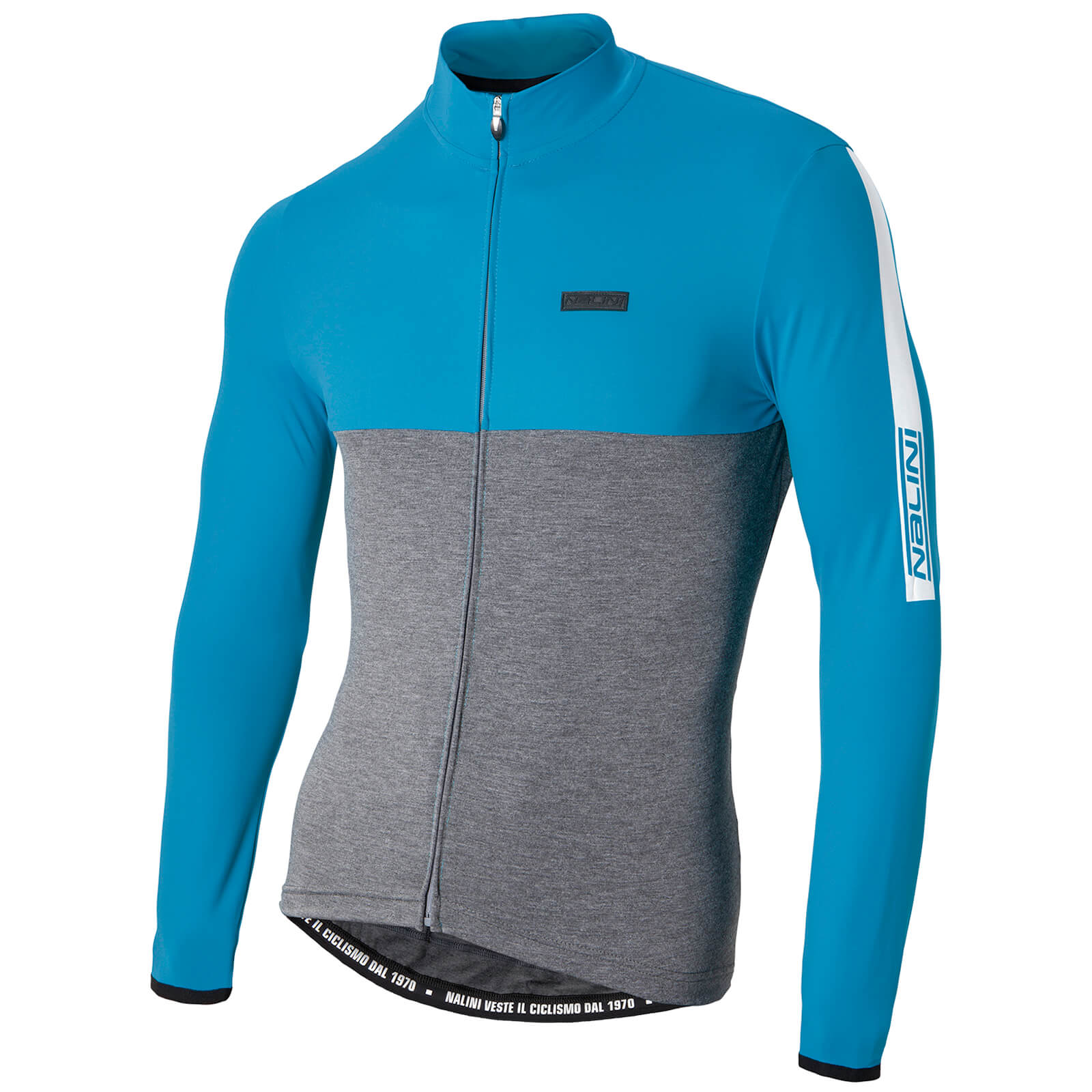 Nalini Mantova Warm Long Sleeve Jersey - Grey/Blue