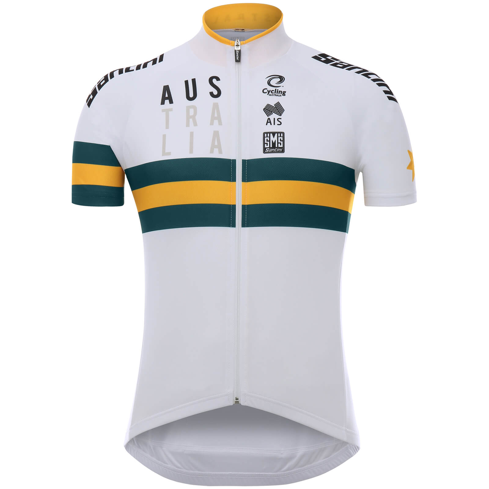 Santini Australian National Team 17 Jersey - White  bd00f8524