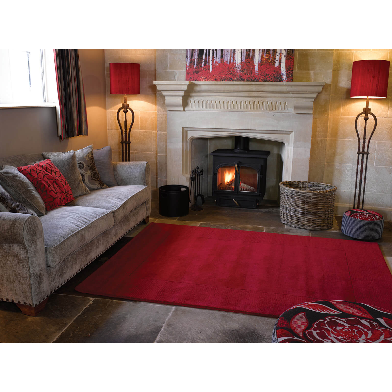 Flair Tuscany Siena Rug - Red