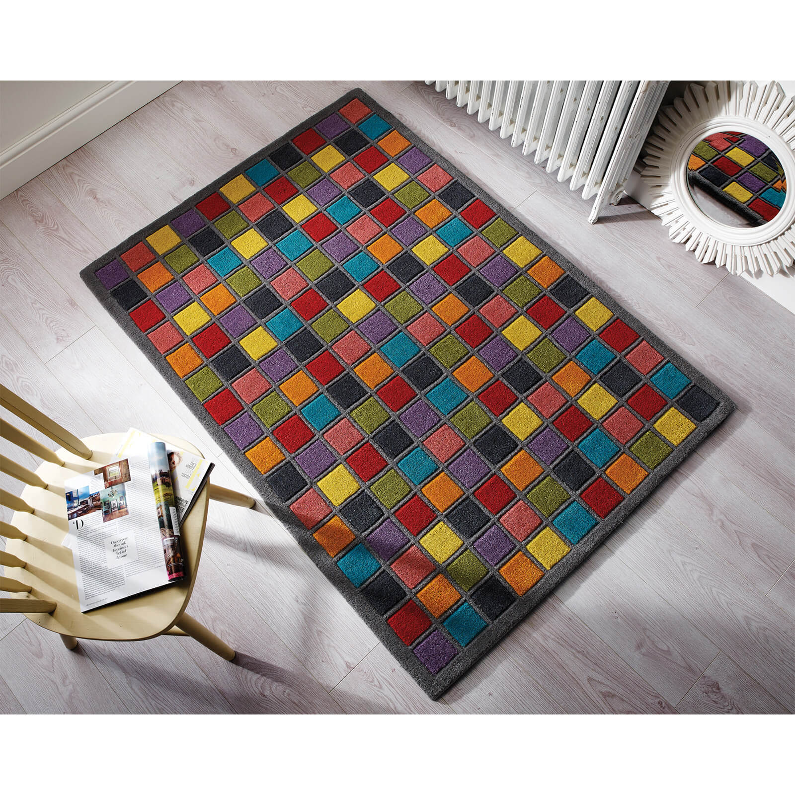Flair Illusion Campari Rug - Multi
