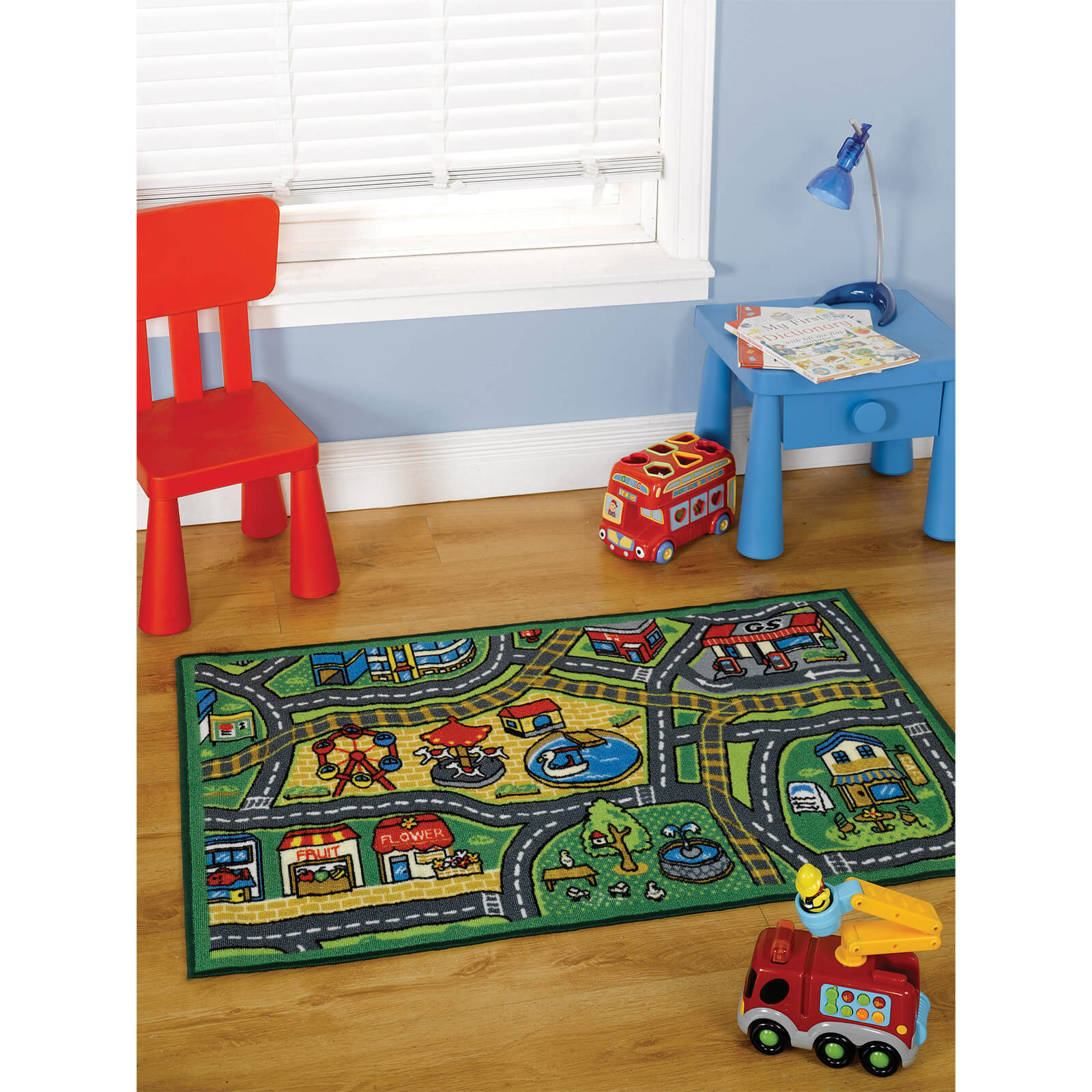 Flair Matrix Kiddy Rug - Happy Town Multi
