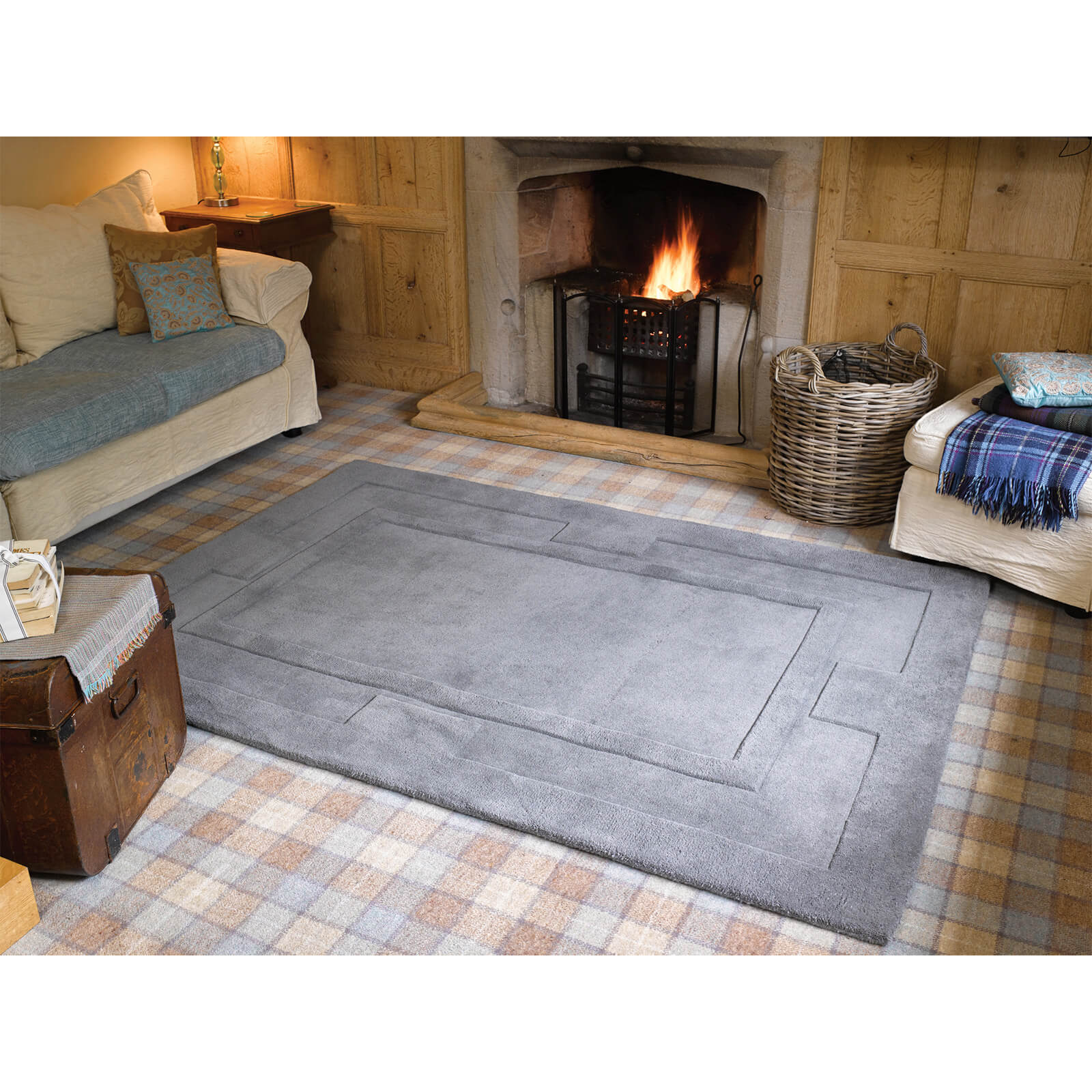 Flair Sierra Apollo Rug - Grey
