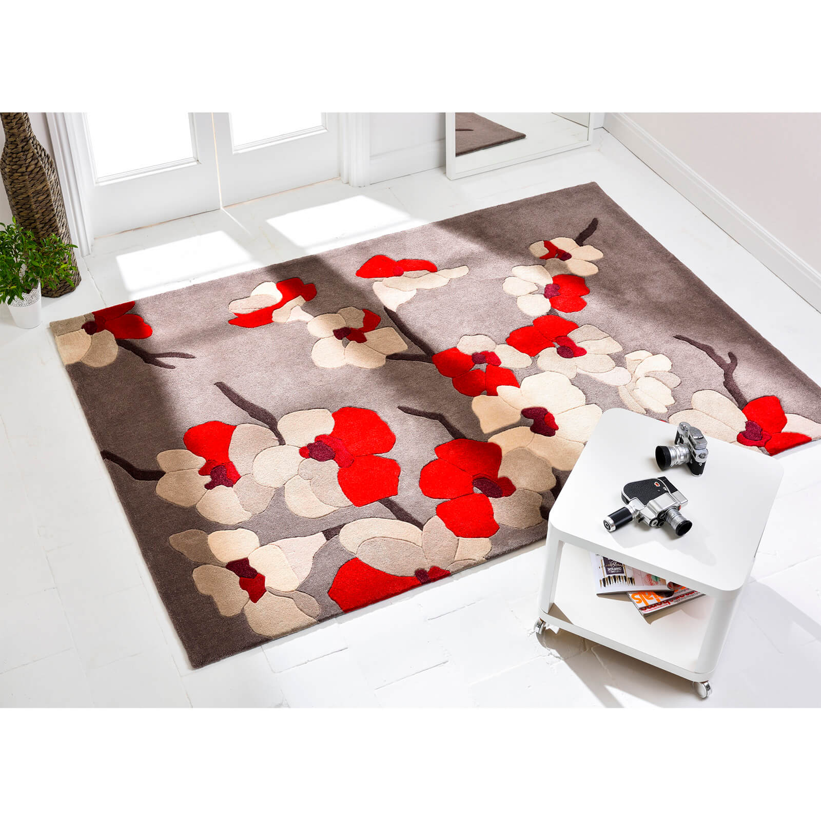 Flair Infinite Blossom Rug - Red