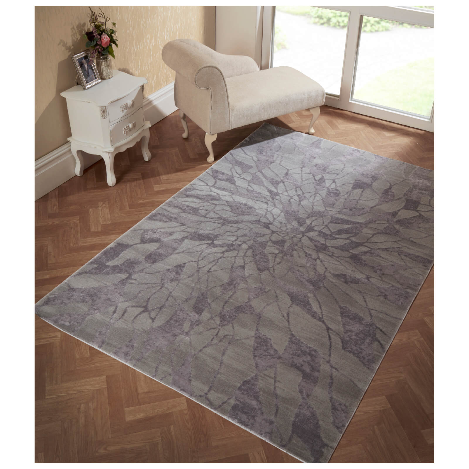 Flair Alpaca Suri Rug - Grey