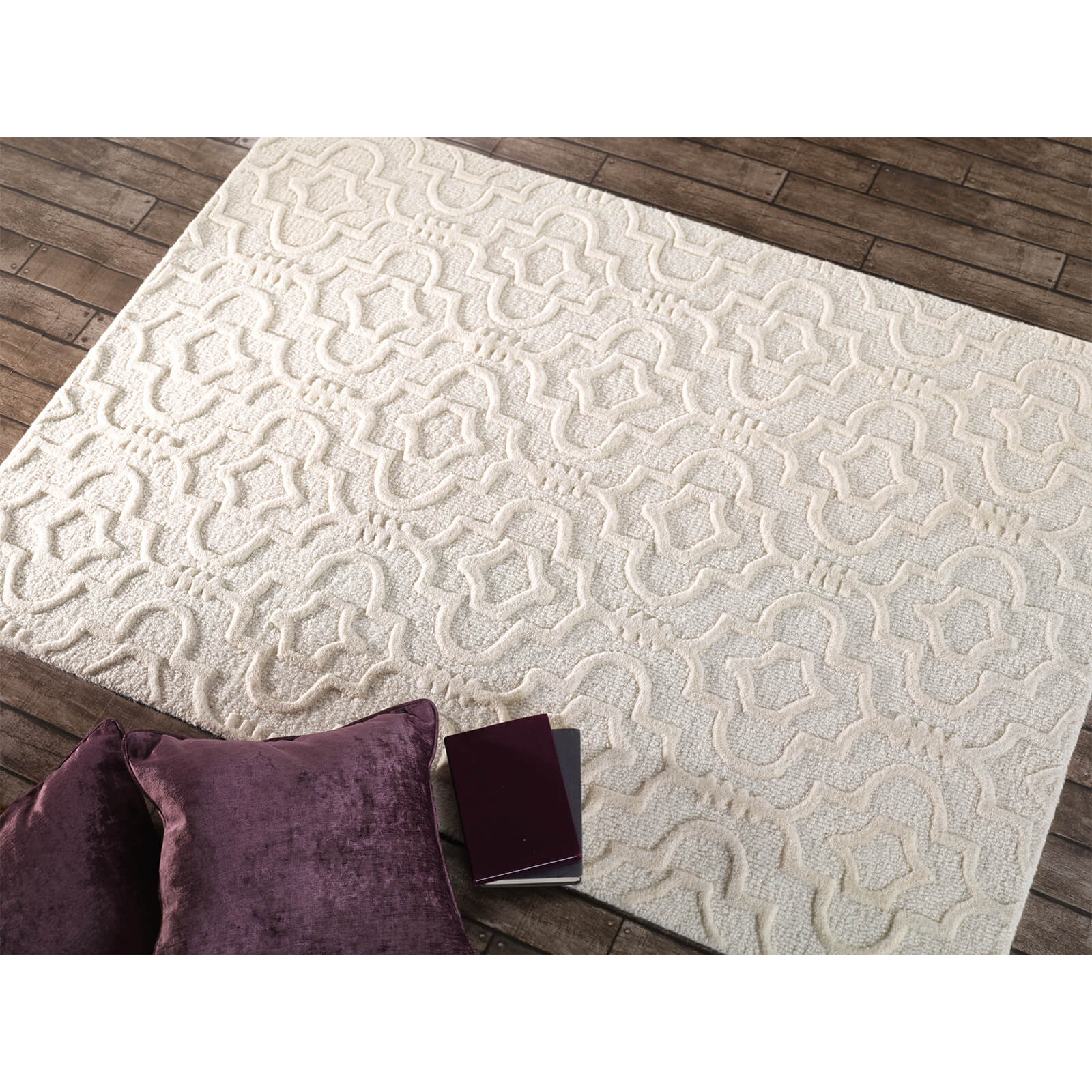 Flair Moorish Marrakech Rug - Cream