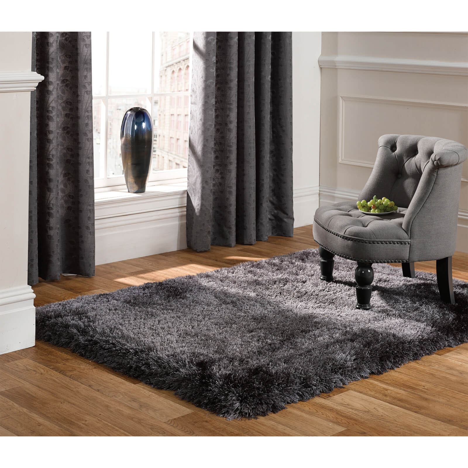 Flair Pearl Rug - Dark Grey