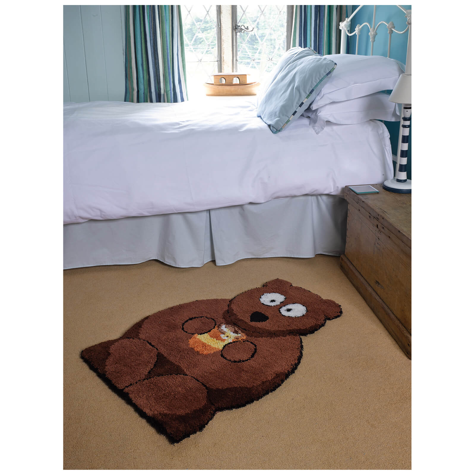 Flair Plush Animals Rug - Bertie Bear Brown (60X90)