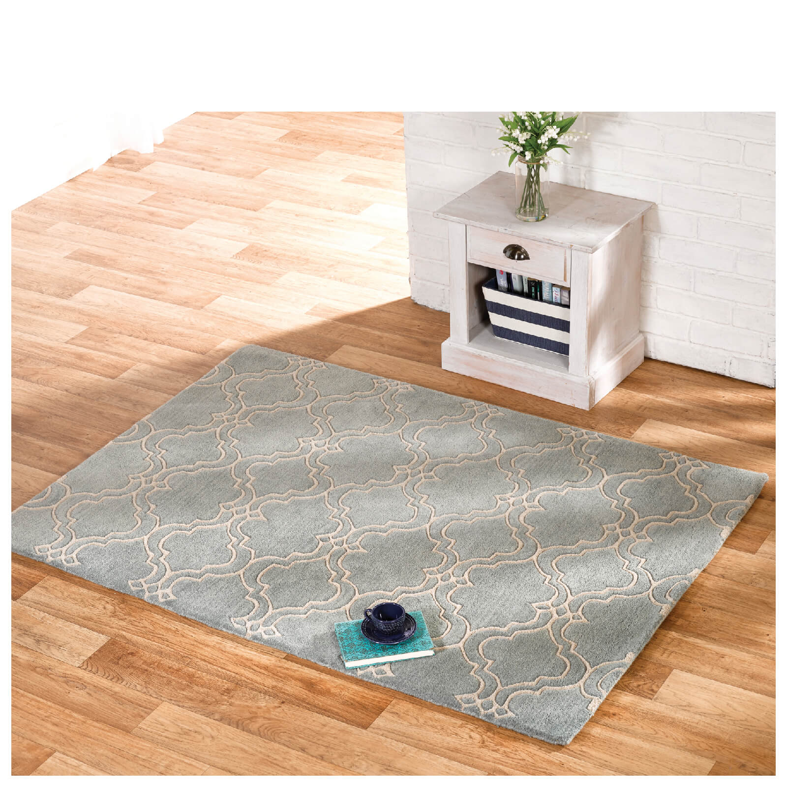 Flair Moorish Casablanca Rug - Duck Egg (200X290)