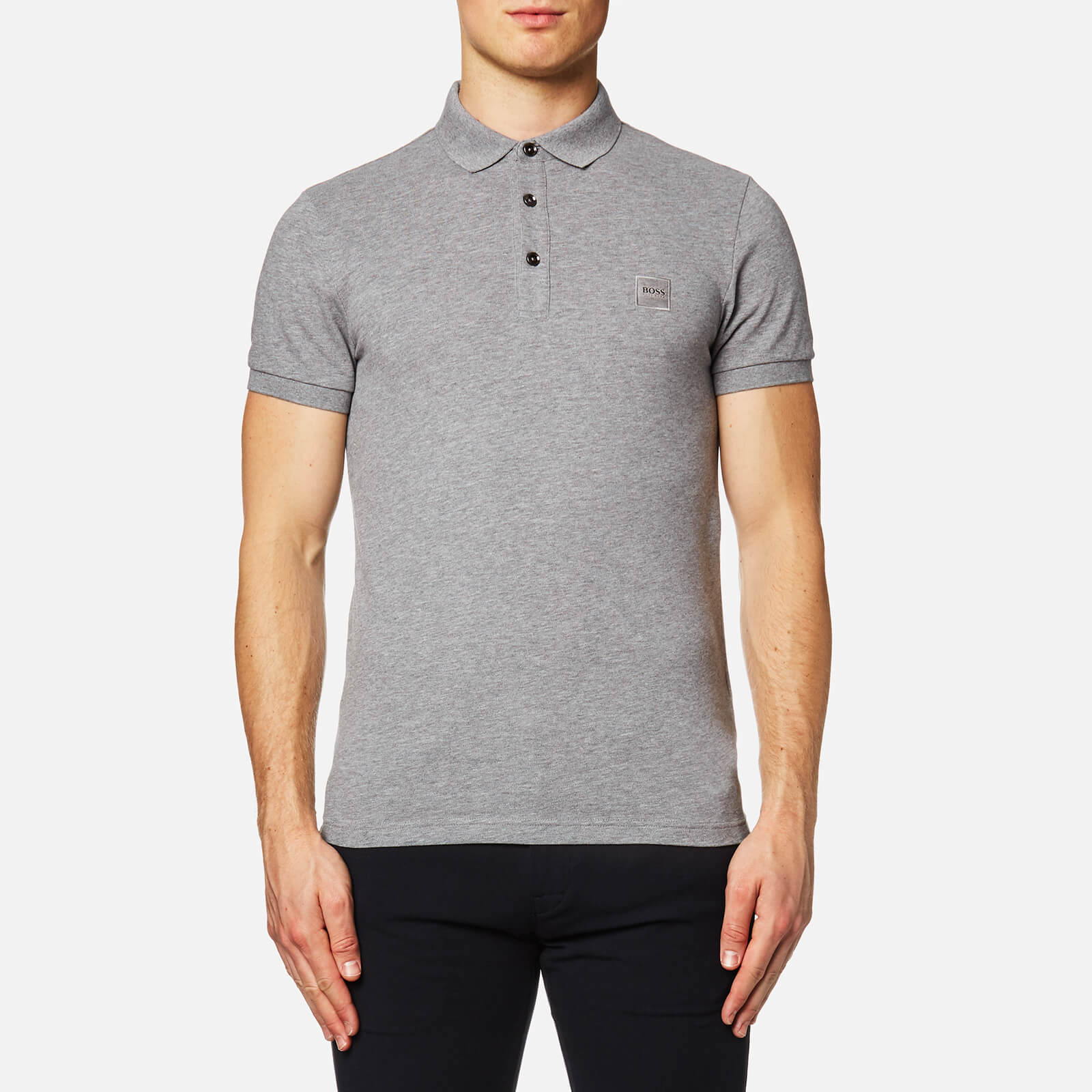 a9293205 BOSS Orange Men's Pavlik Short Sleeve Polo Shirt - Grey - Free UK Delivery  over £50