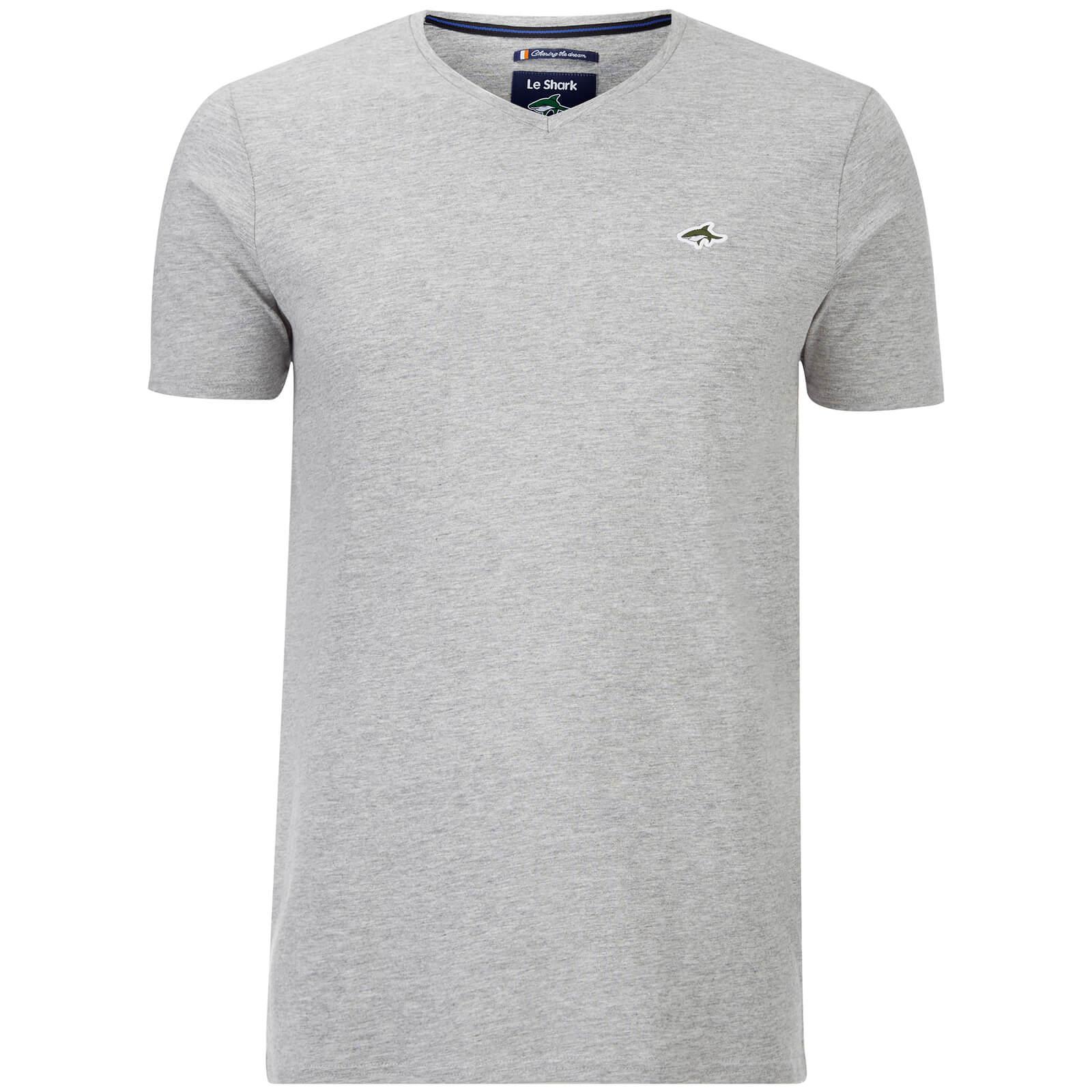 8fa83f6f75a6 Le Shark Men s Glasshouse V Neck T-Shirt - Light Grey Marl Clothing ...