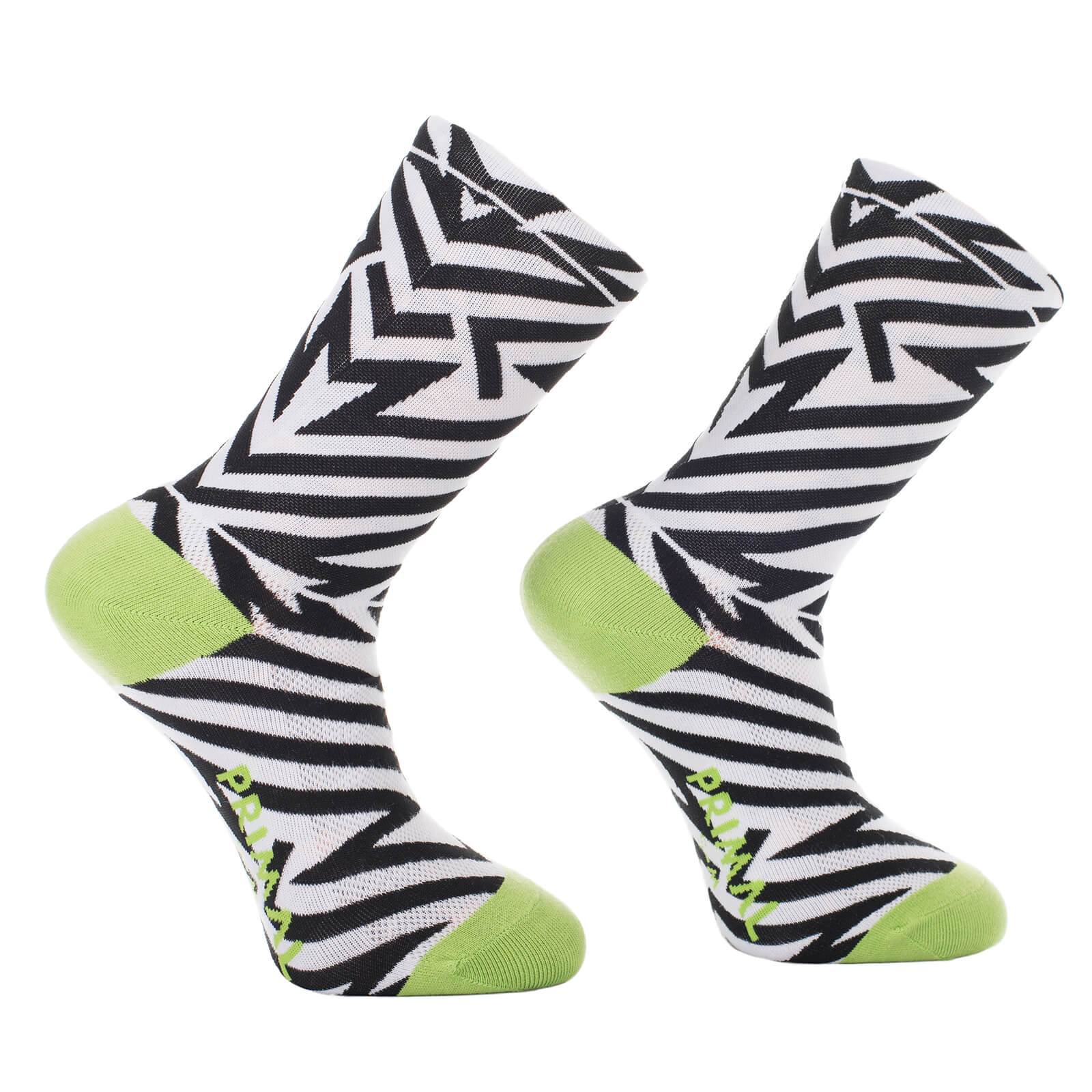 Primal Electric Shock Socks - Black/White
