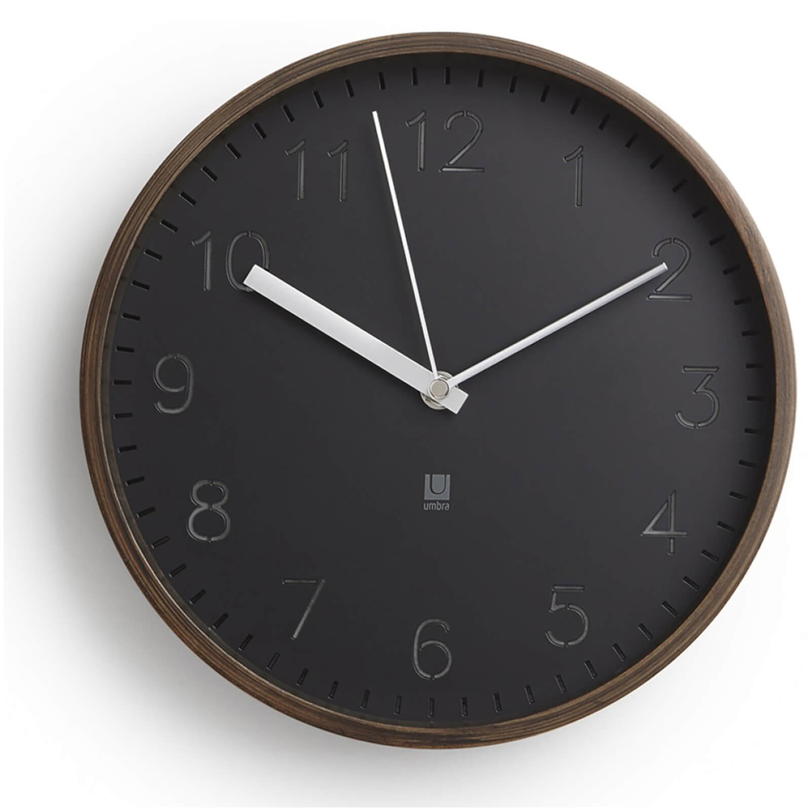 Umbra Rimwood Wall Clock - Aged Walnut
