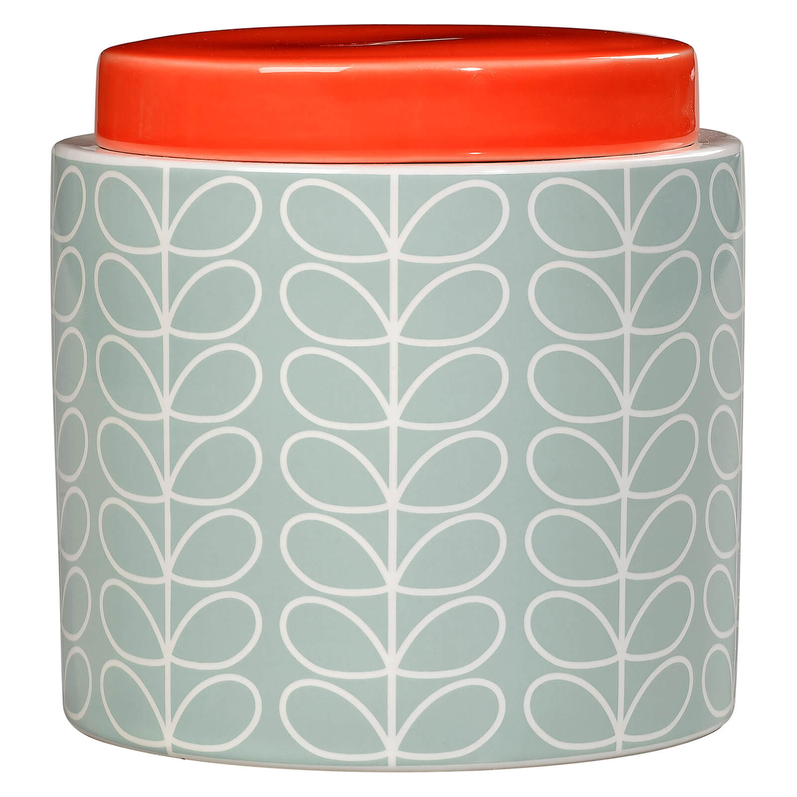 Orla Kiely Storage Jar - Duck Egg Blue
