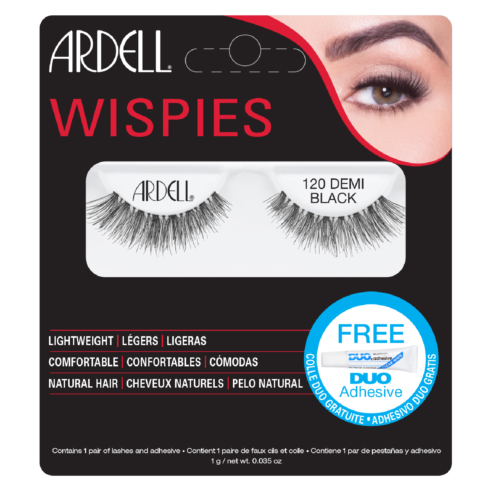 b76fff7eab4 Ardell Demi Wispies False Eyelashes - 120 Black | Free Shipping |  Lookfantastic