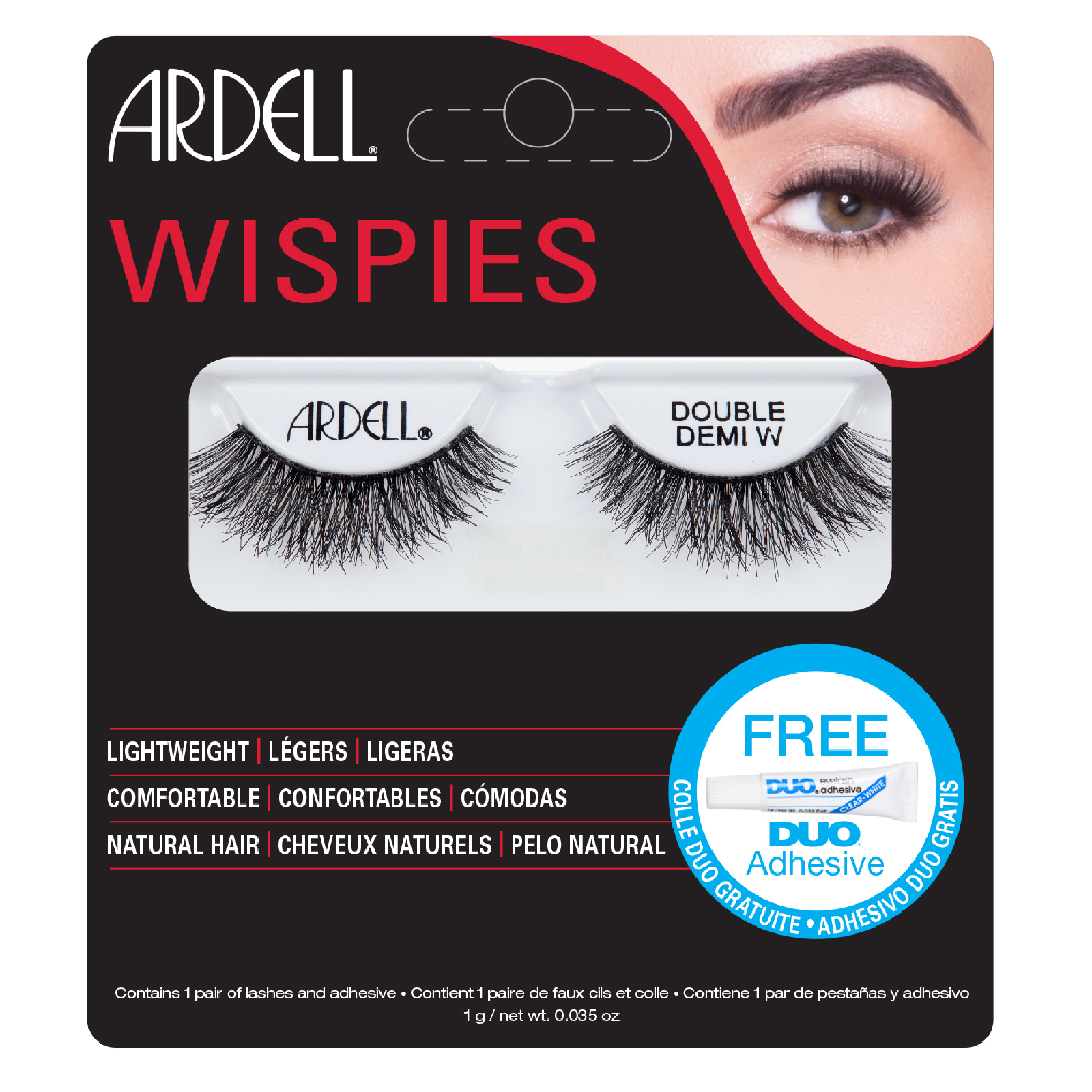 838ad52f113 Ardell Double Up Demi Wispies False Eyelashes - Black | Free Shipping |  Lookfantastic