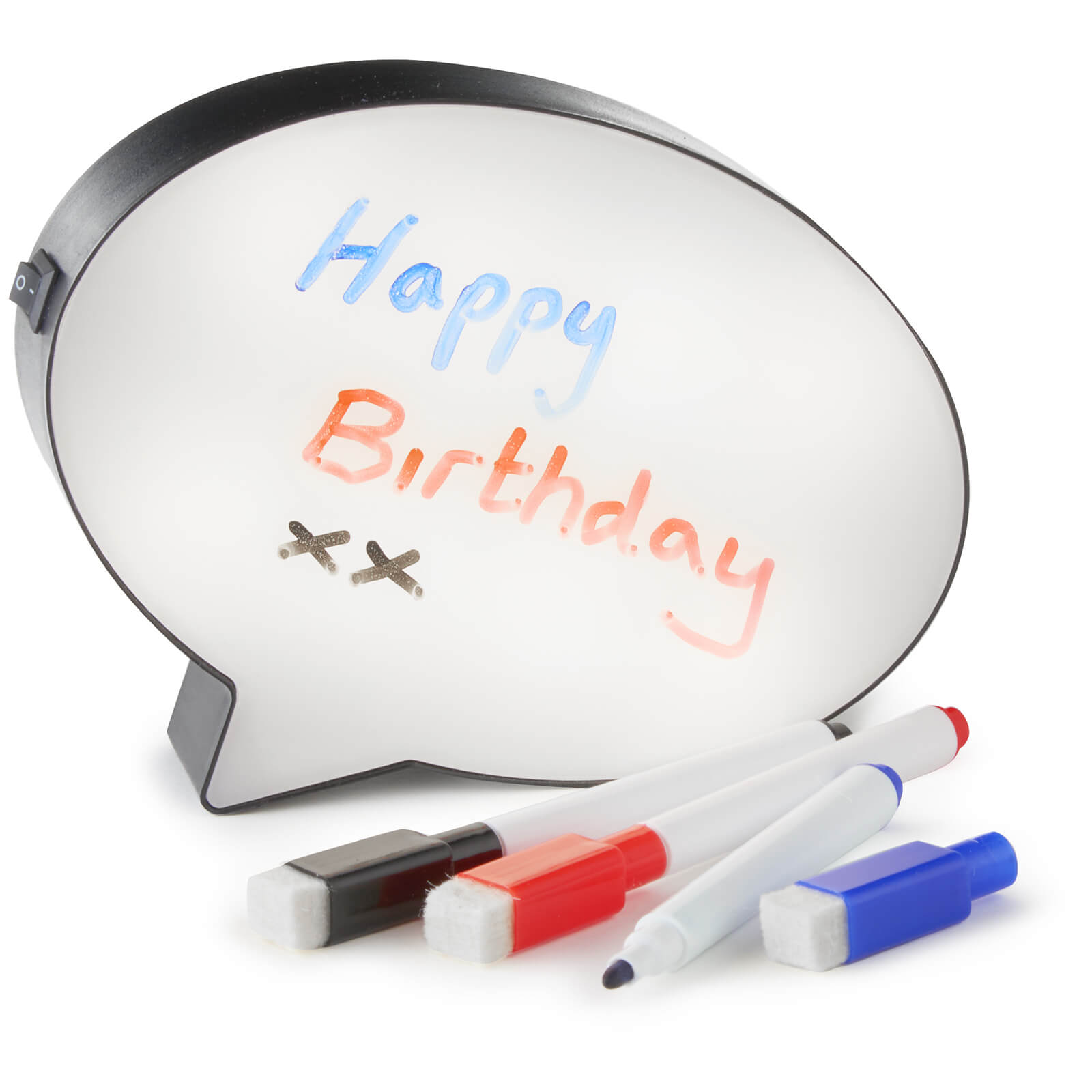 Speech Bubble Light - White/Black