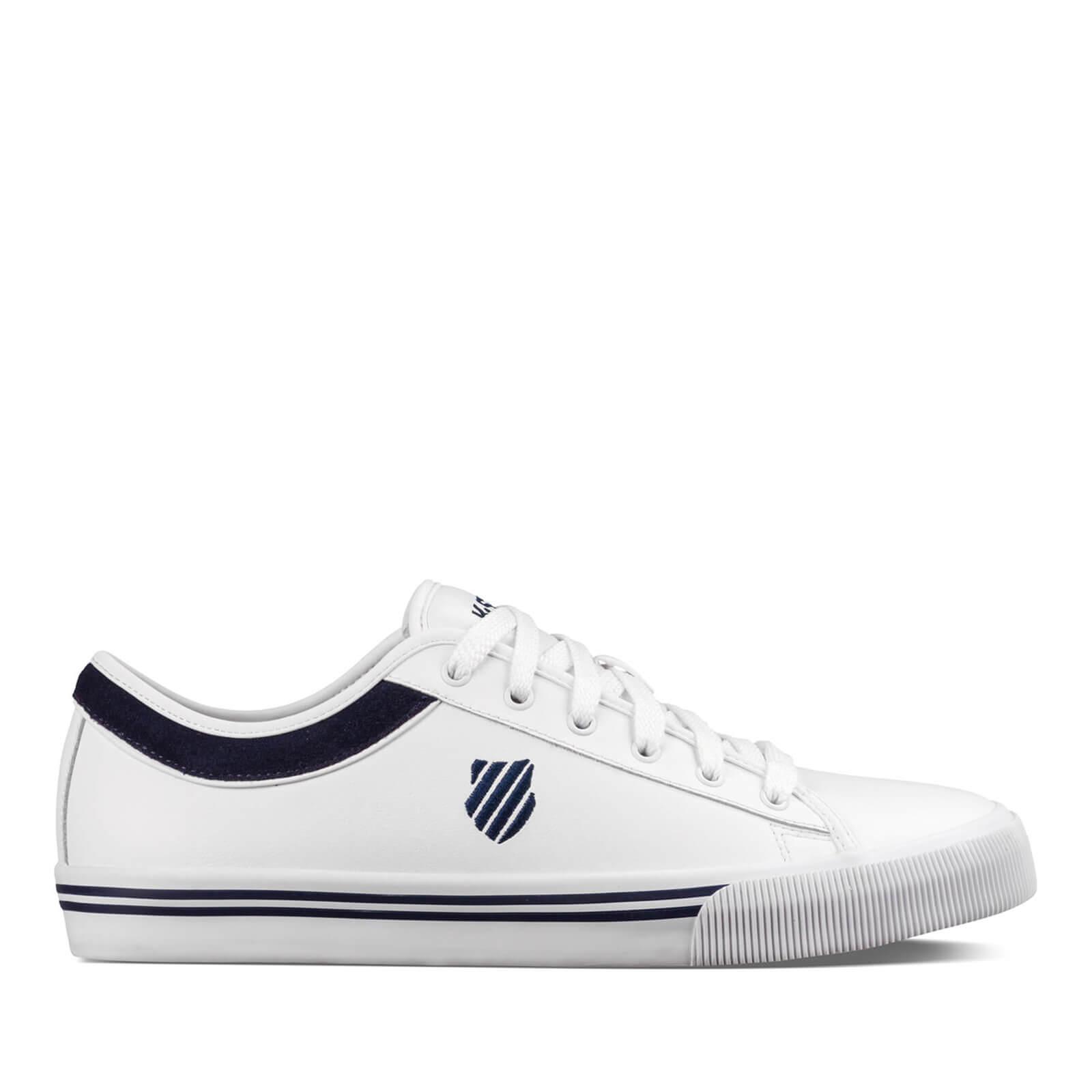 6bc963fe53f04d K-Swiss Men s Bridgeport II Trainers - White Navy Mens Footwear