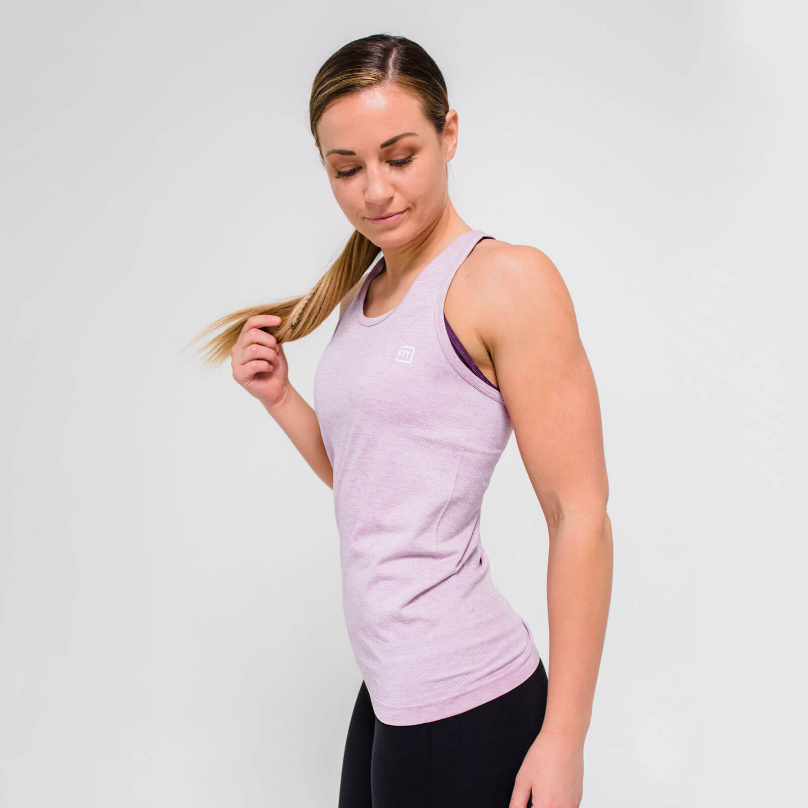 XL - Seamless Vest Tank Top - Pink