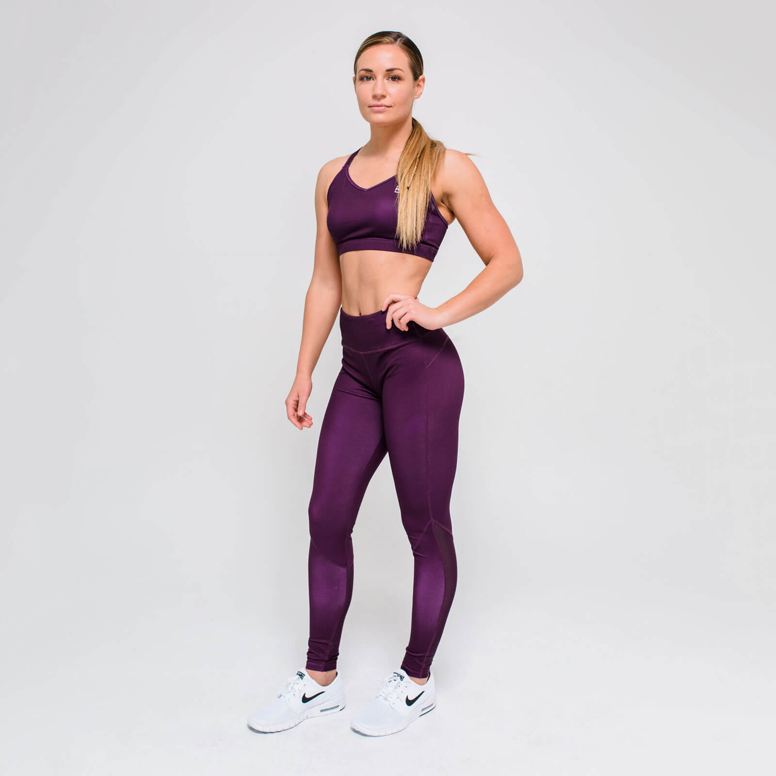 XL - Core Full Length Leggings - Dark Berry