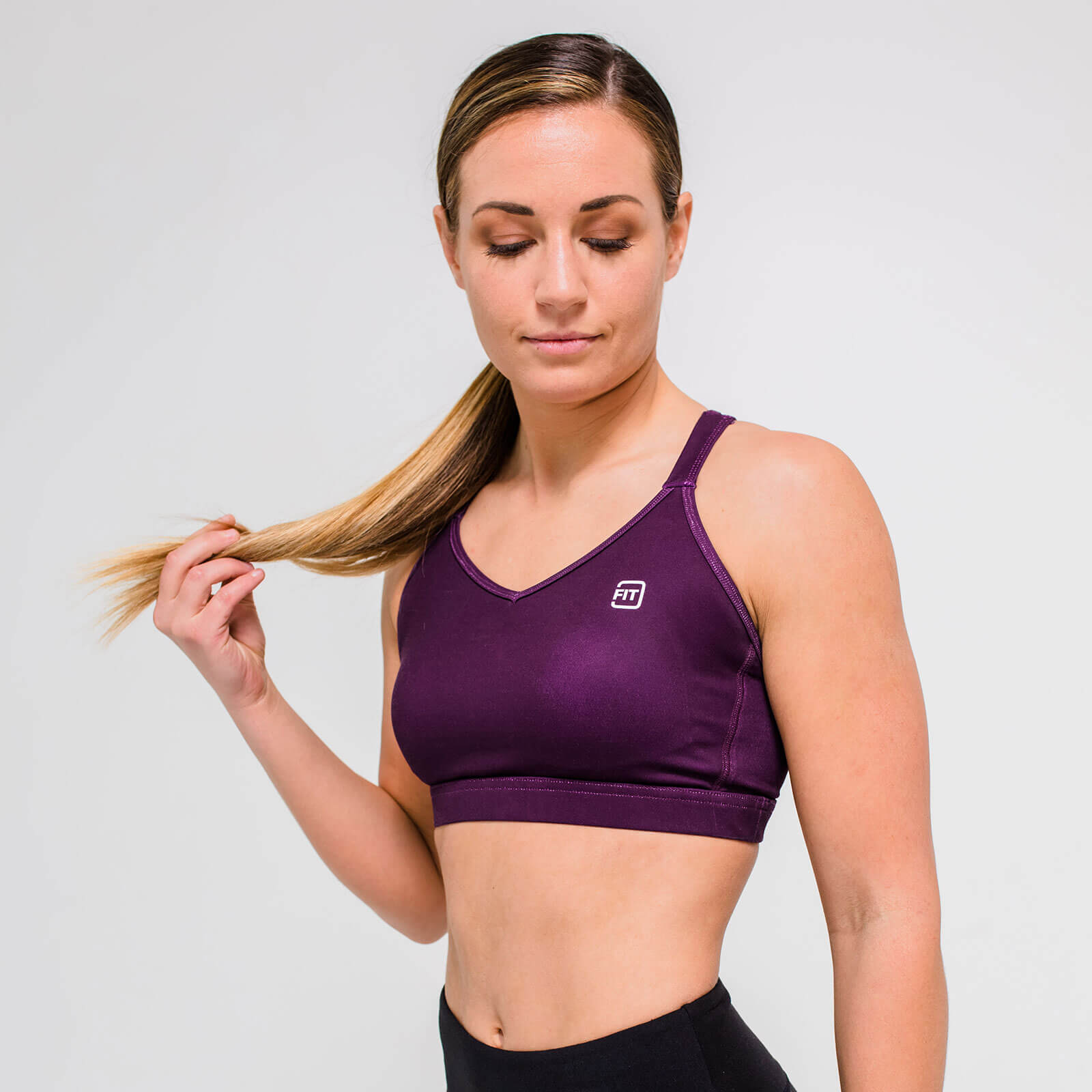 XL - Core Sports Bra - Dark Berry