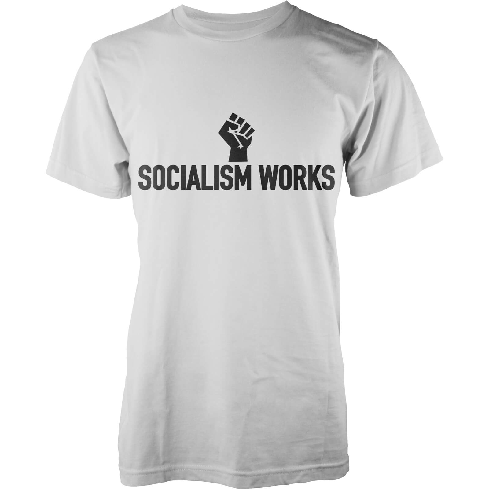 T-Shirt Homme Socialism Works -Blanc