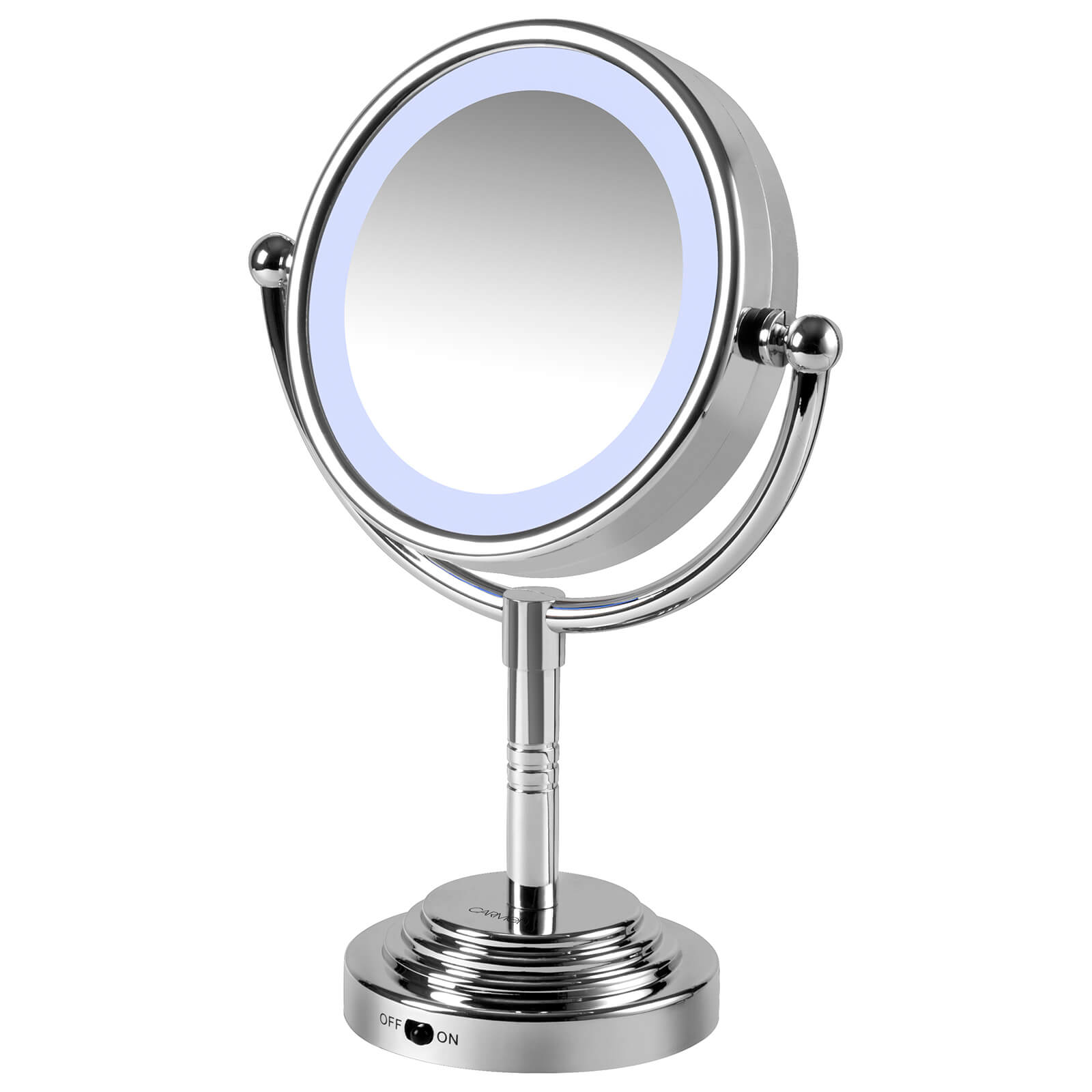 Carmen Dual Sided LED Illuminated Mirror - Silver