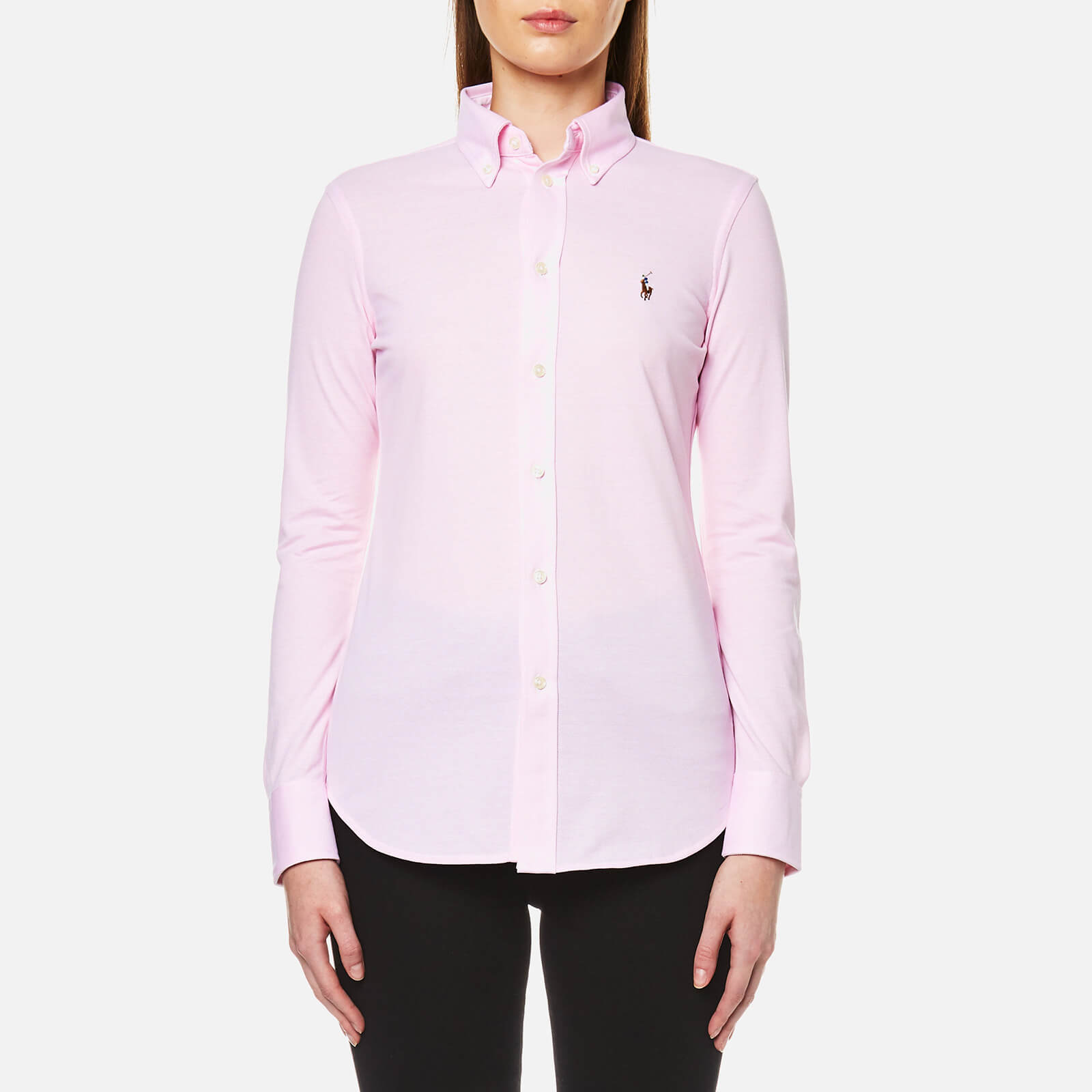 890c3fad41fad Polo Ralph Lauren Women s Heidi Skinny Fit Stretch Shirt - Carmel Pink - Free  UK Delivery over £50