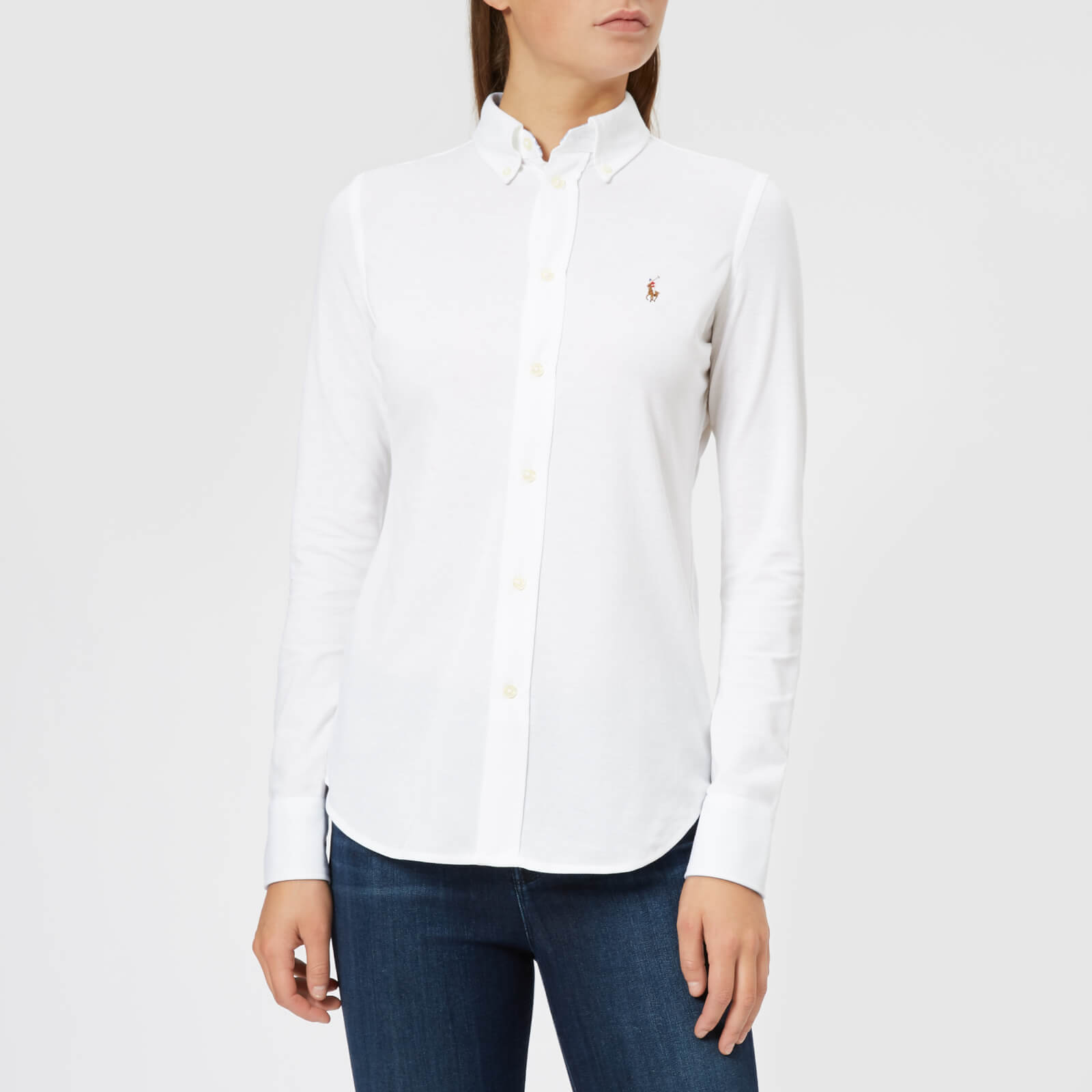 d9a78338366 Polo Ralph Lauren Women's Heidi Skinny Fit Stretch Shirt - White - Free UK  Delivery over £50