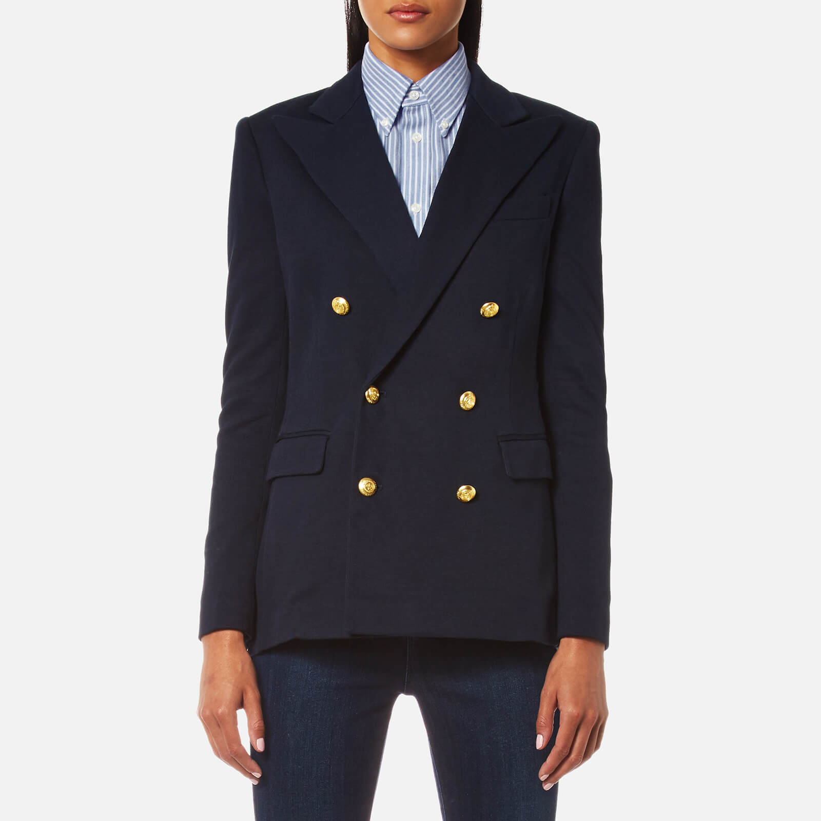 9491037c Polo Ralph Lauren Women's Double Breasted Blazer - Aviator Navy - Free UK  Delivery over £50