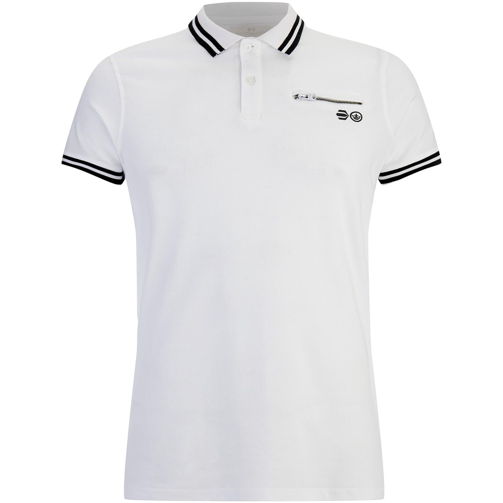 Polo Homme Crazer Crosshatch - Blanc