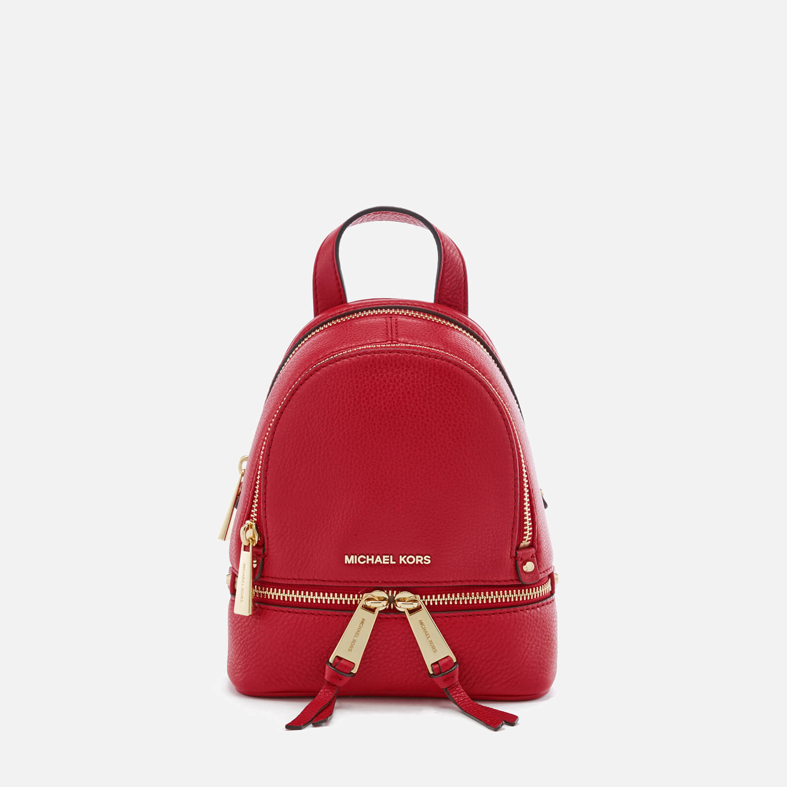 02d7c2e22297 MICHAEL MICHAEL KORS Women's Rhea Zip Extra Small Backpack - Bright Red -  Free UK Delivery over £50