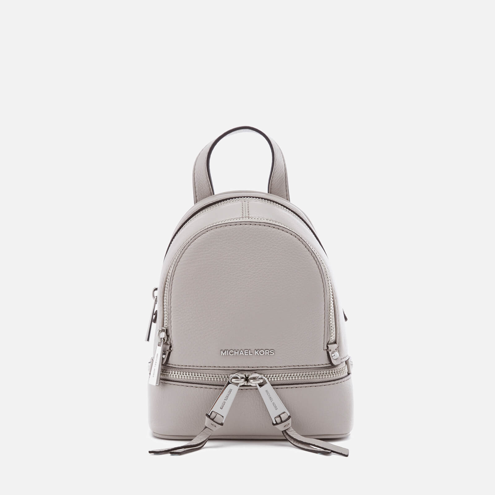 2792d0509a51e2 MICHAEL MICHAEL KORS Women's Rhea Zip Extra Small Backpack - Cement - Free  UK Delivery over £50