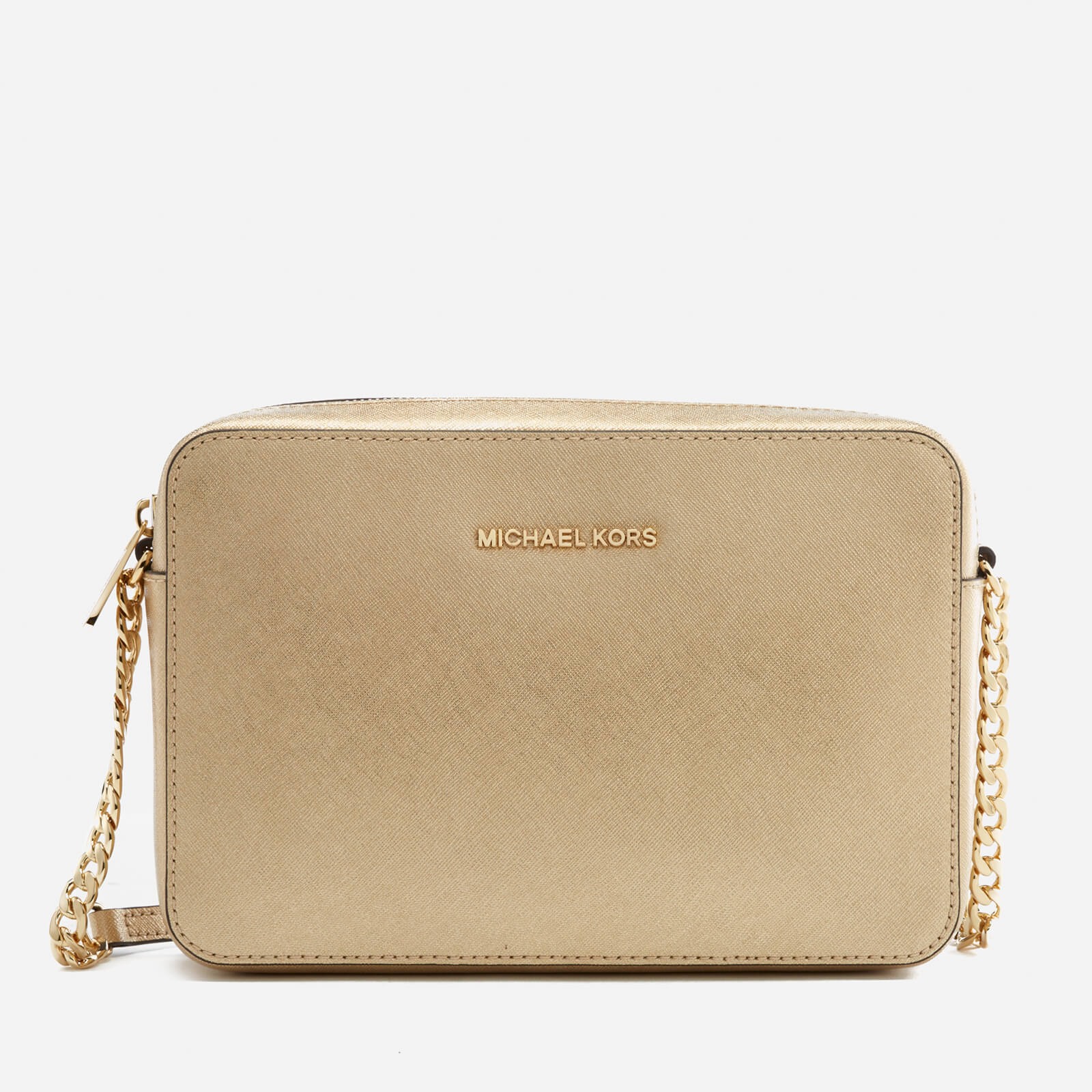 59a63b86465b MICHAEL MICHAEL KORS Women's Jet Set Large East West Cross Body Bag - Pale  Gold Clothing | TheHut.com