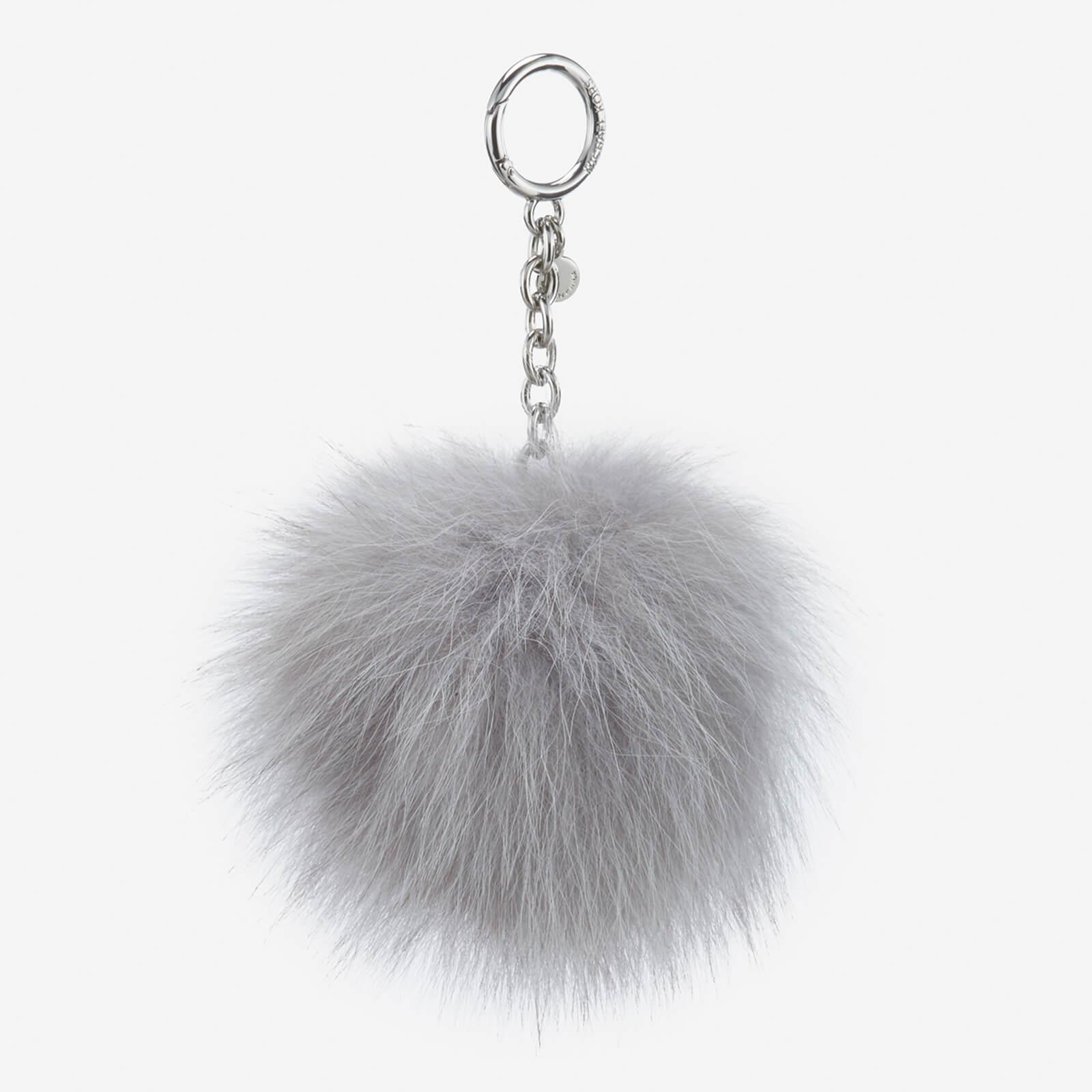 MICHAEL MICHAEL KORS Women s Large Fur Pom Pom - Silver - Free UK Delivery  over £50 e761b18cbc643
