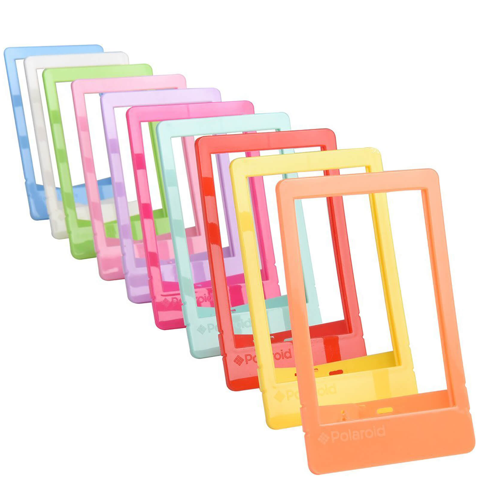 Polaroid 10 Pack Colourful Mini Frames (For 2x3 Inch Film/Paper) - Multicoloured