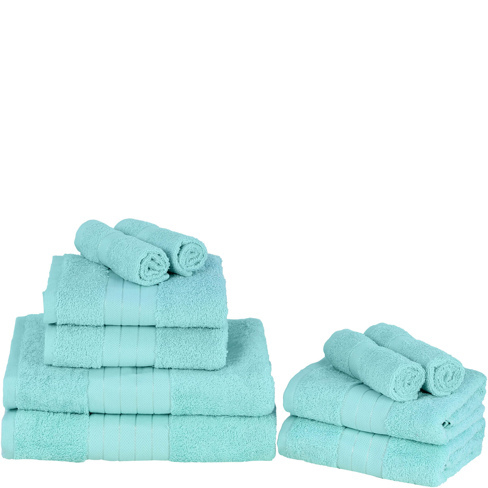 Highams 100% Egyptian Cotton 10 Piece Towel Bale (500 gsm) - Aqua