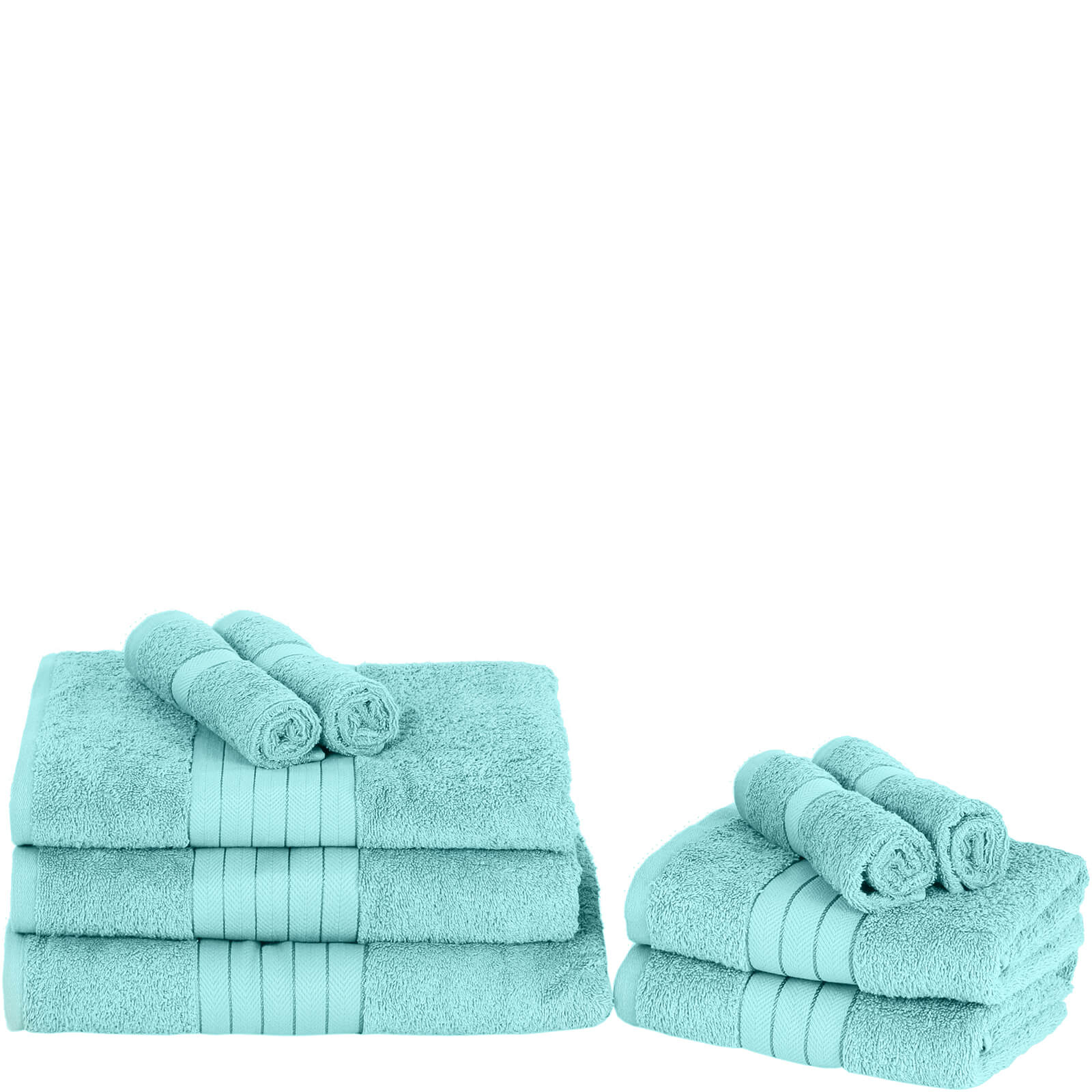 Highams 100% Egyptian Cotton 9 Piece Towel Bale (500 gsm) - Aqua