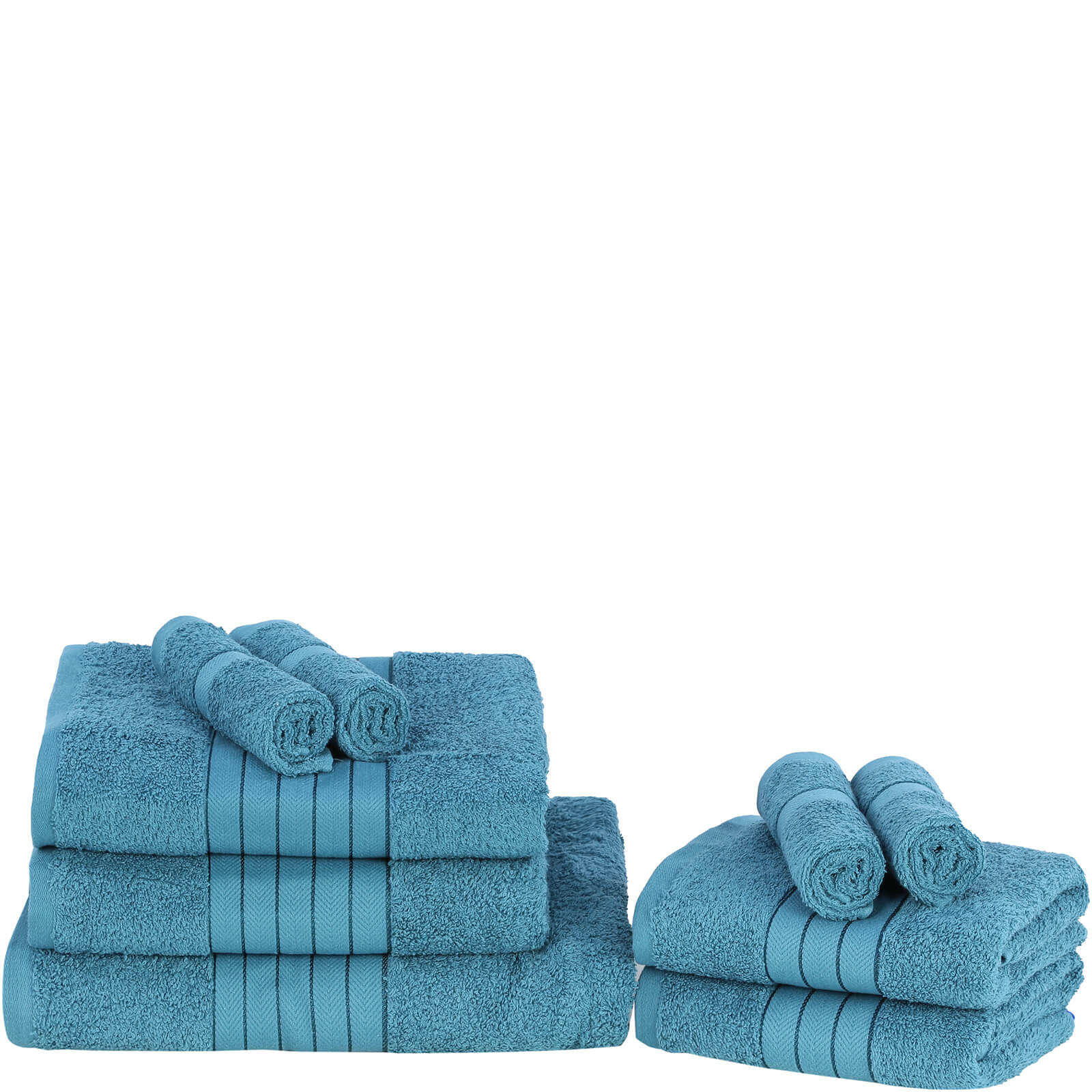 Highams 100% Egyptian Cotton 9 Piece Towel Bale (500 gsm) - Teal
