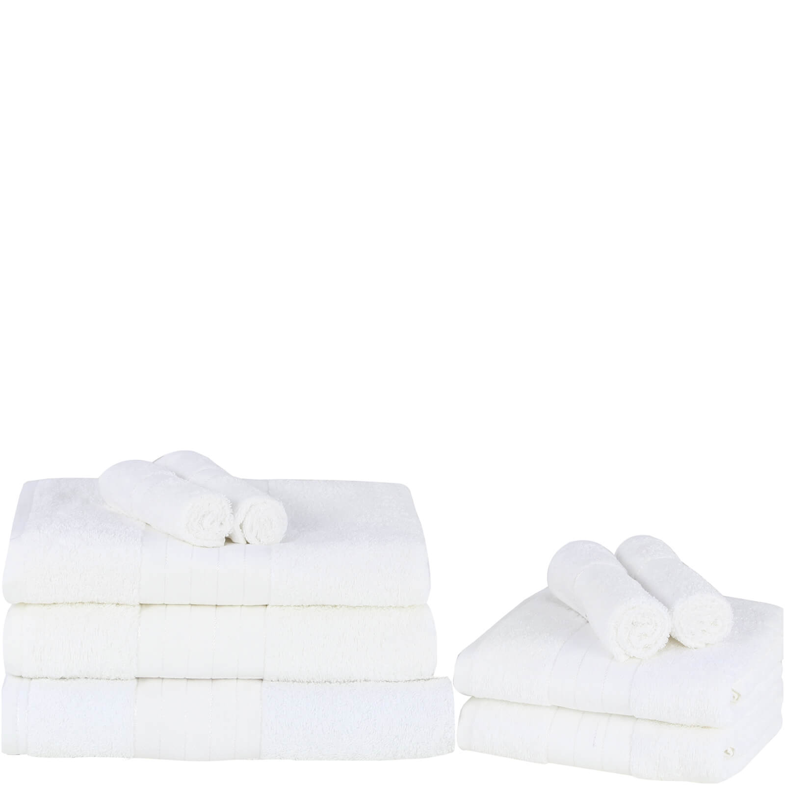 Highams 100% Egyptian Cotton 9 Piece Towel Bale (500 gsm) - White