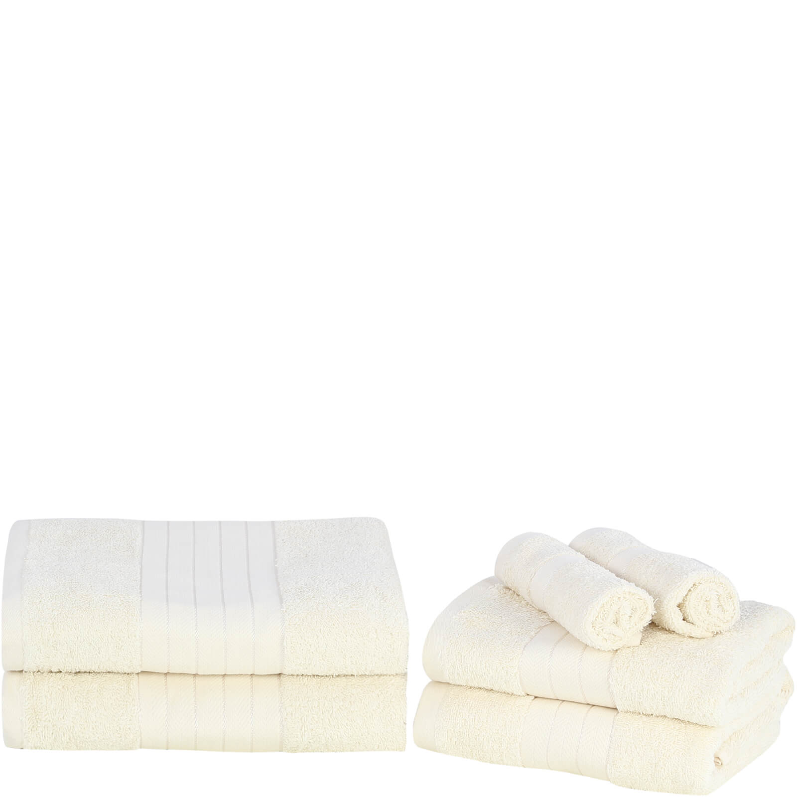 Highams 100% Egyptian Cotton 6 Piece Towel Bale (500 gsm) - Cream