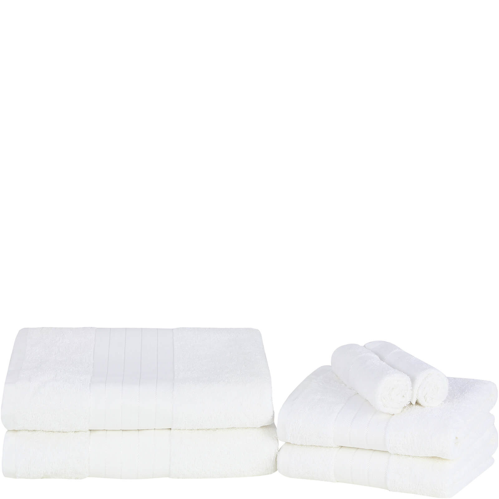 Highams 100% Egyptian Cotton 6 Piece Towel Bale (500 gsm) - White