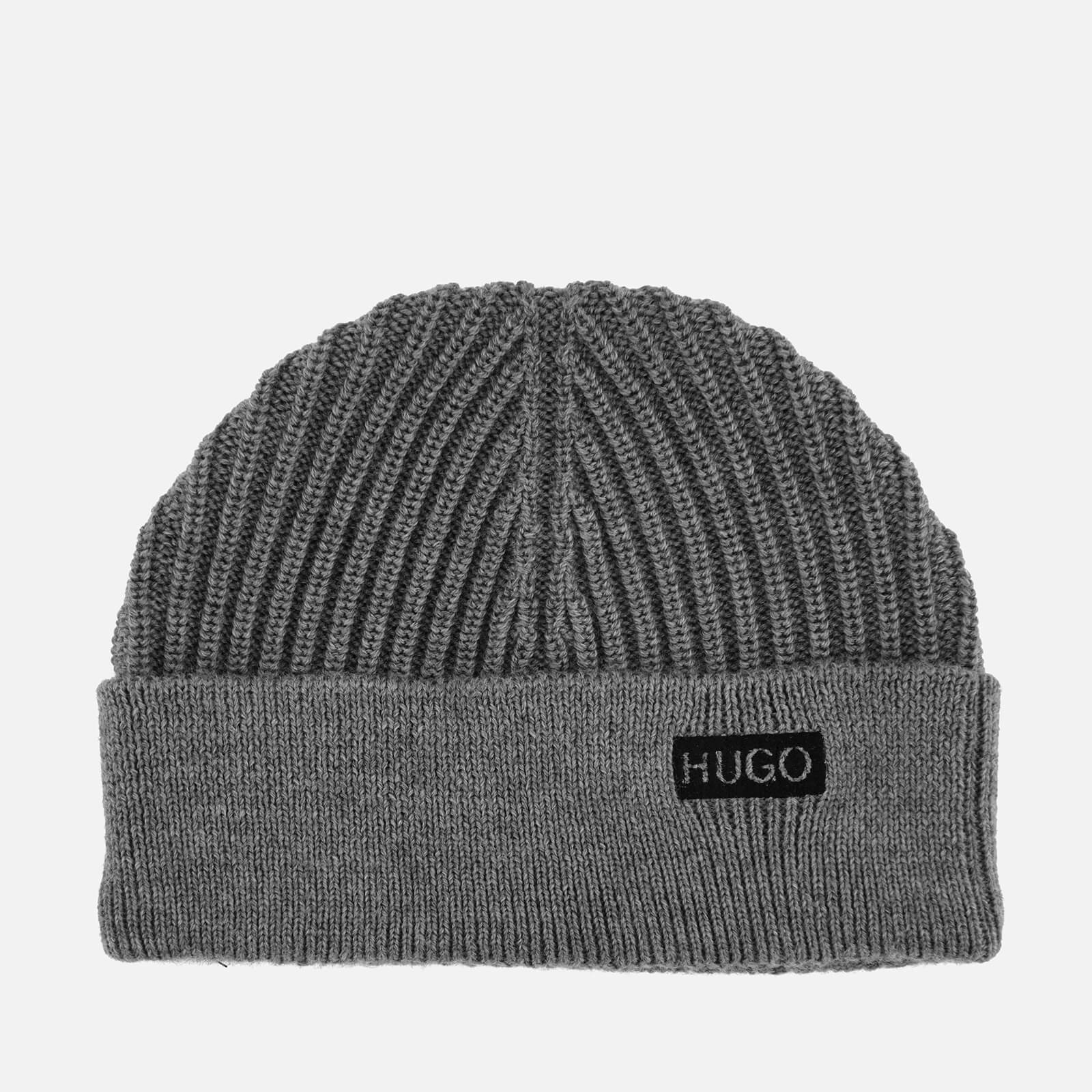 6a01bb477d383 HUGO Men s Xianno Wool Knitted Beanie Hat - Grey - Free UK Delivery over £50