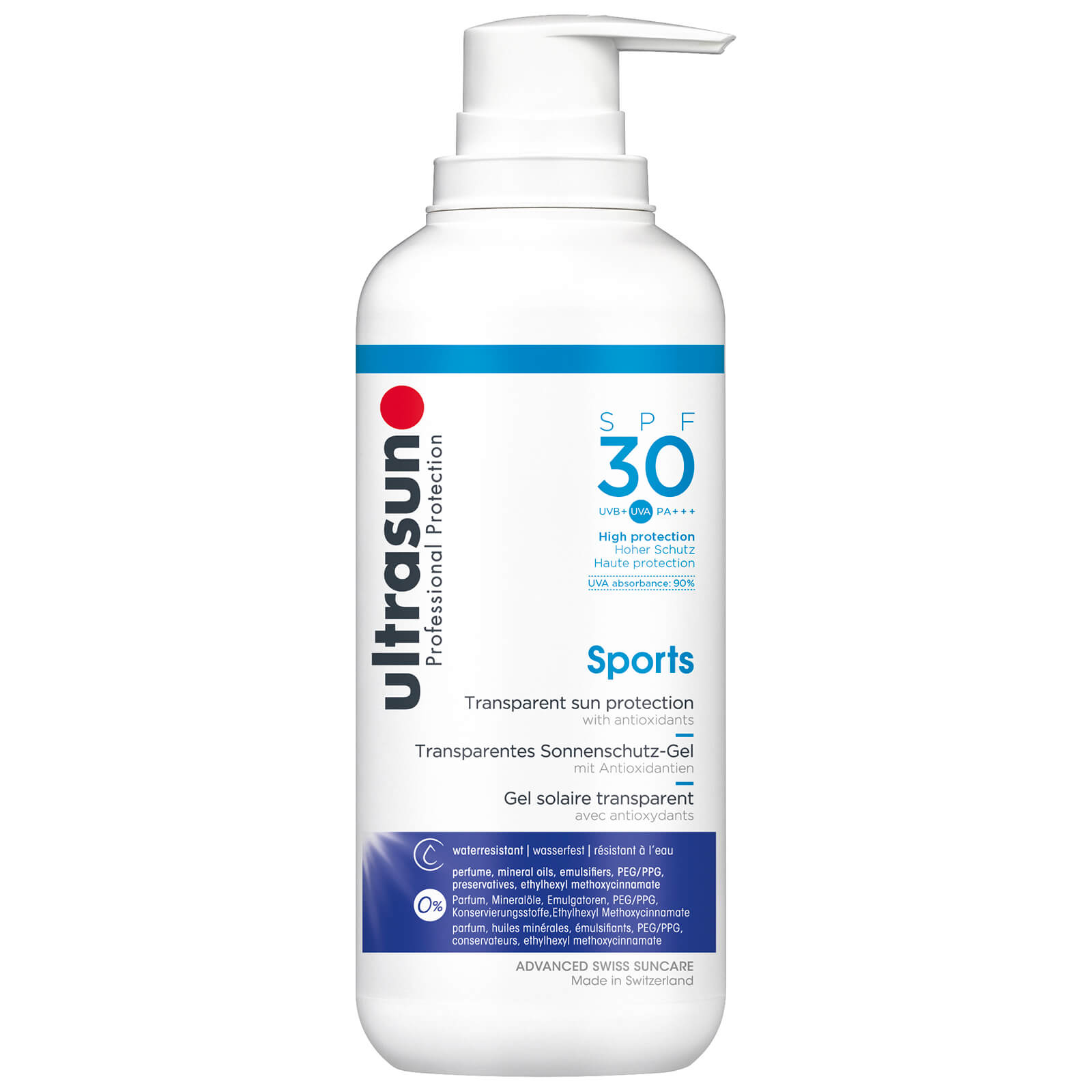 69b09626986490 Ultrasun Transparent Sun Protection Sports Gel SPF30 400ml | Free Shipping  | Lookfantastic
