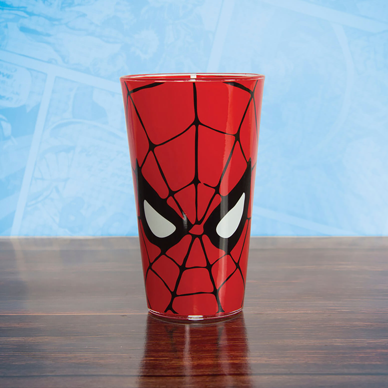 Marvel Comics Spider-Man Glass - Red