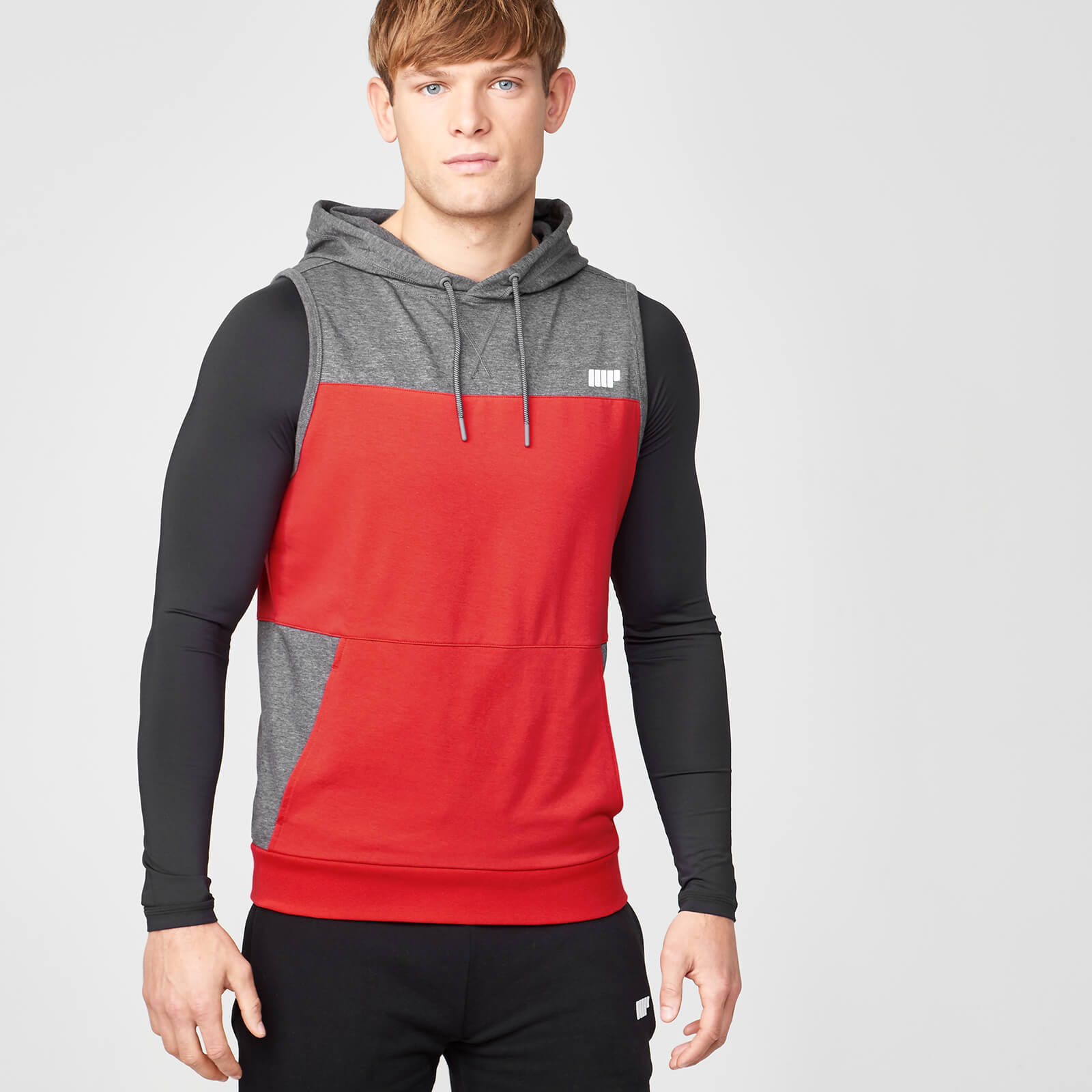 Superlite Sleeveless Zip-Up Hoodie - Red - XL