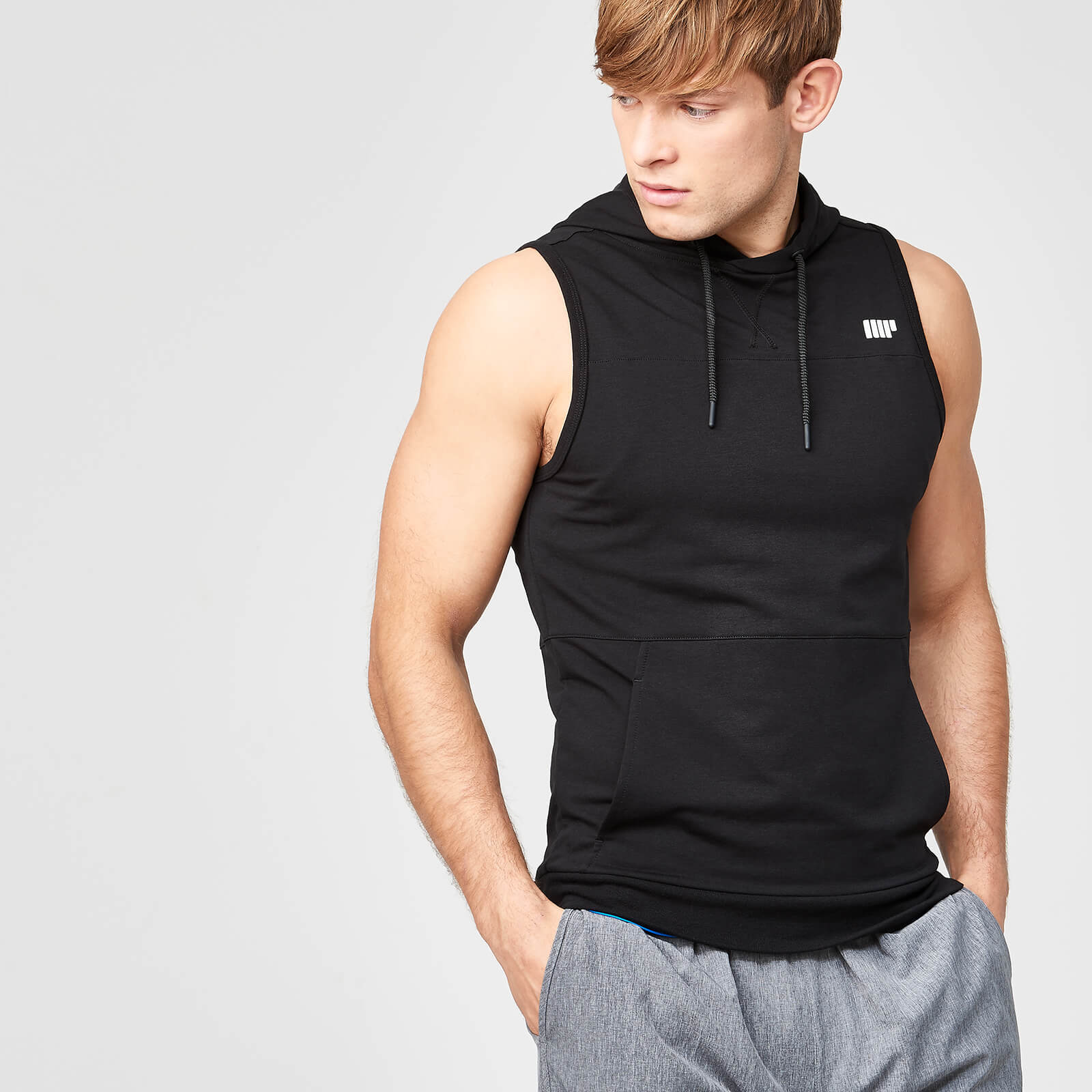 Myprotein Superlite Sleeveless Zip-Up Hoodie - Black - XXL