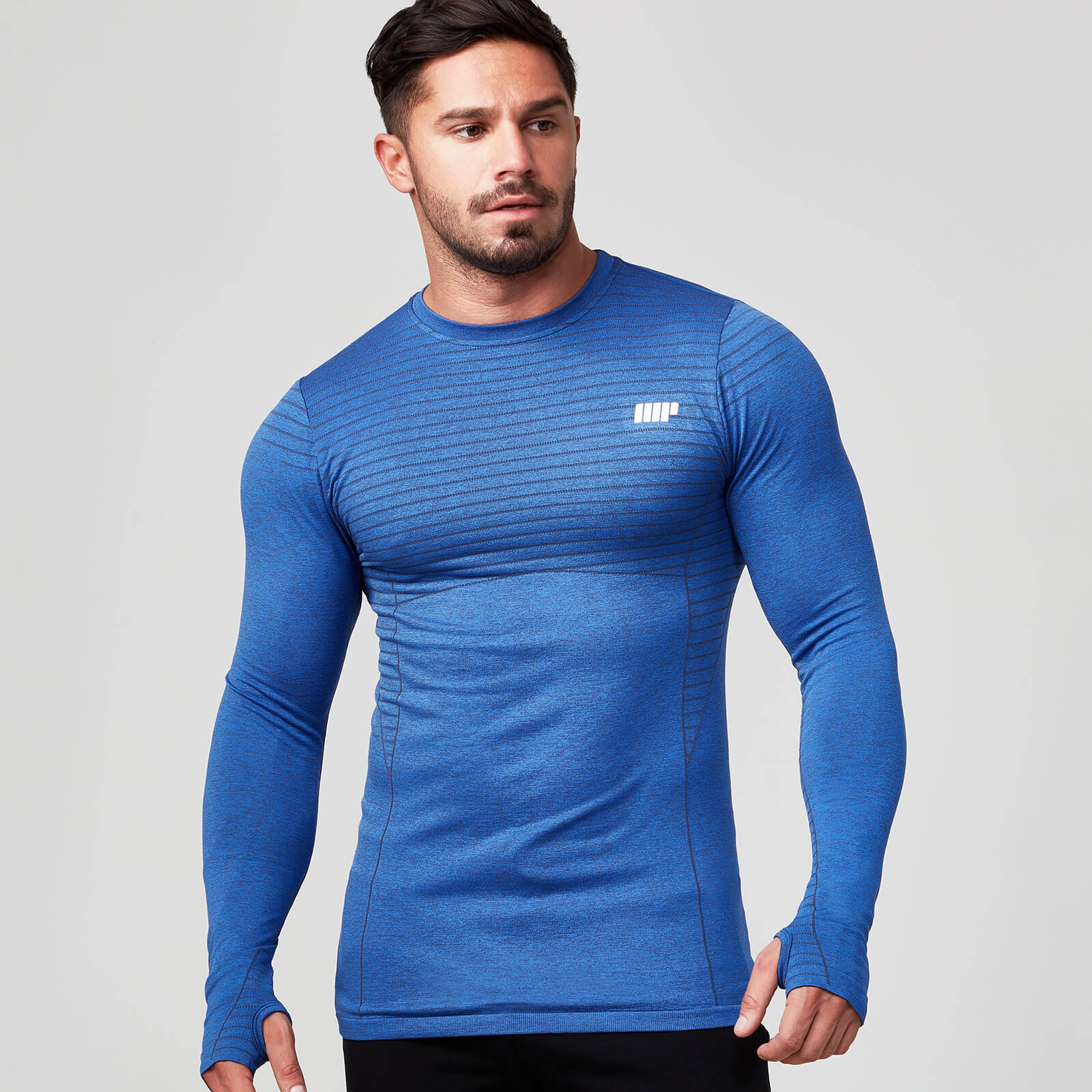 Myprotein Seamless Long Sleeve T-Shirt - Navy - S